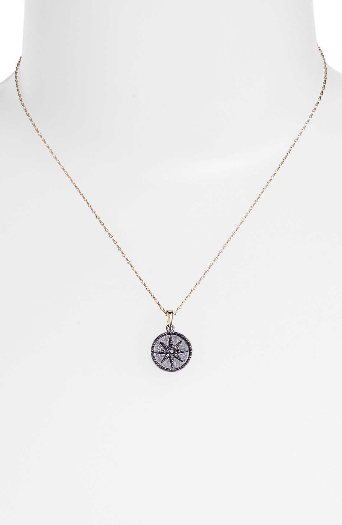 Main Image - Mizuki 'Icicles' Black Diamond Star Coin Pendant Necklace