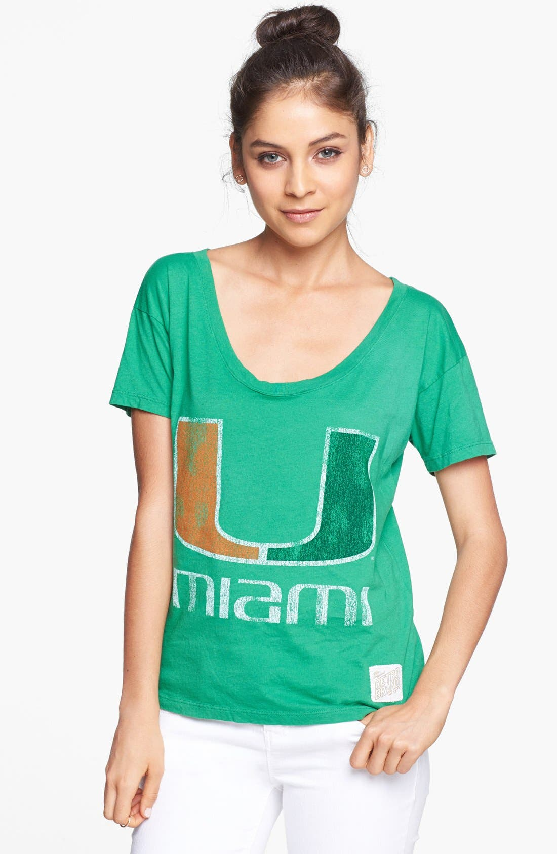 Main Image - Retro Brand 'University of Miami Hurricanes' Graphic Tee (Juniors)