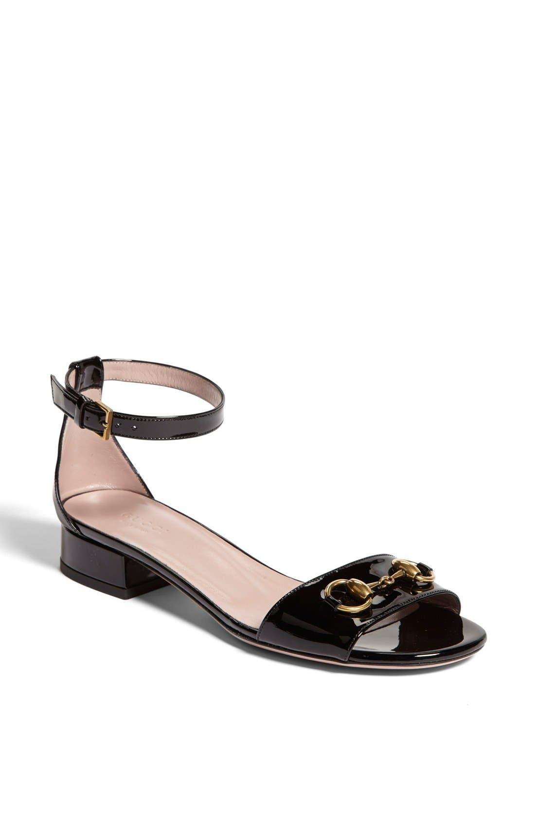 Alternate Image 1 Selected - Gucci 'Liliane' Ankle Strap Sandal