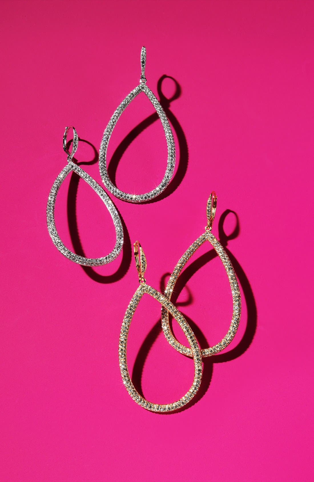 Alternate Image 3  - Nadri Pavé Open Teardrop Earrings