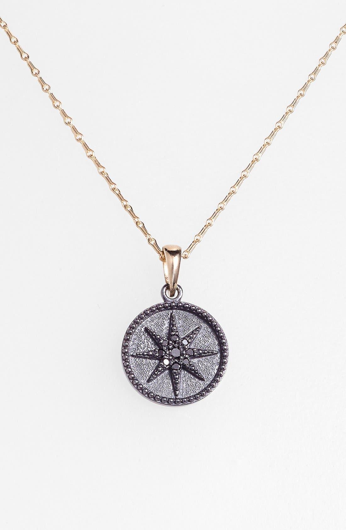 Alternate Image 2  - Mizuki 'Icicles' Black Diamond Star Coin Pendant Necklace