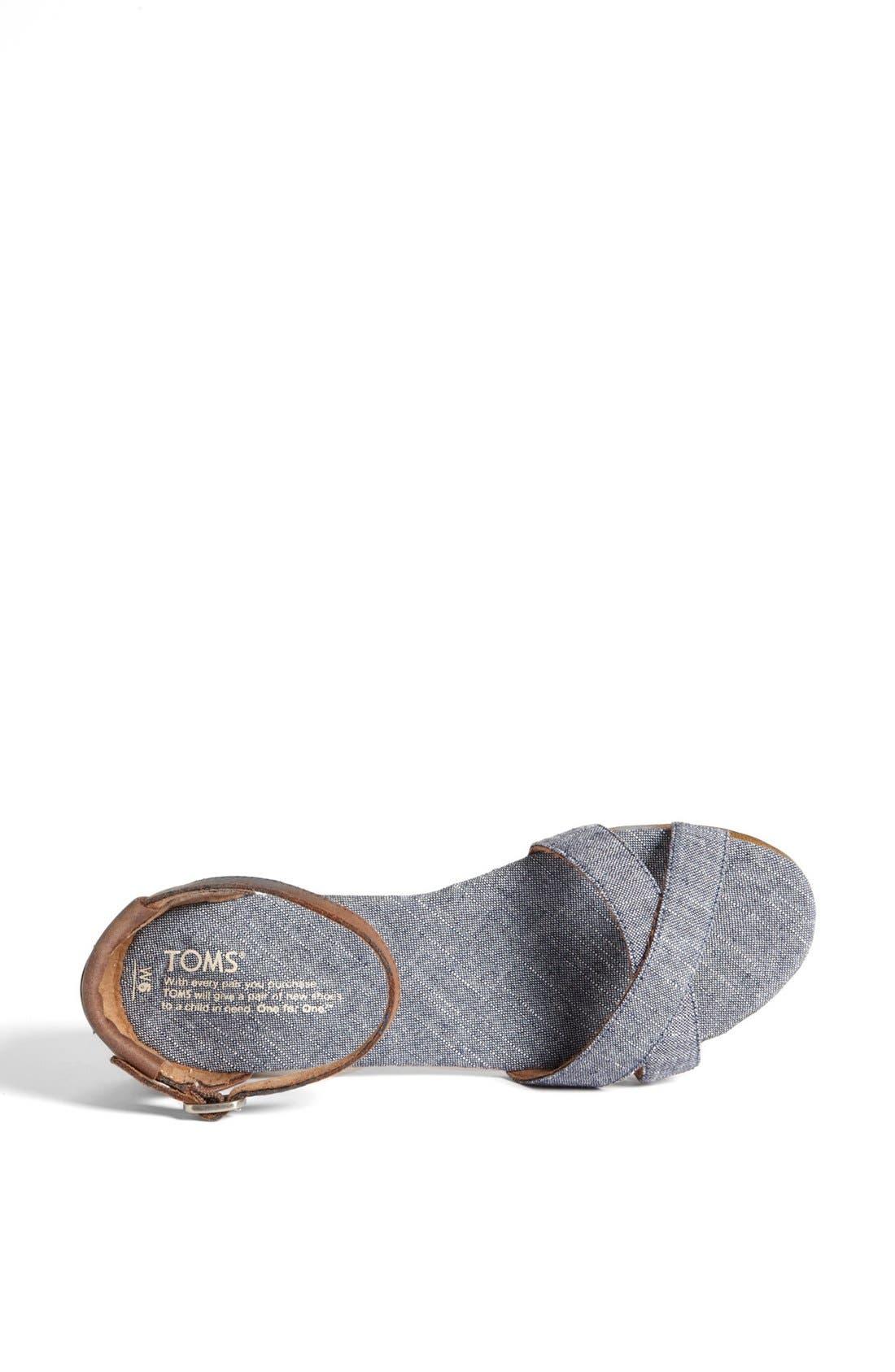 Alternate Image 3  - TOMS 'Correa' Ankle Strap Flat Sandal