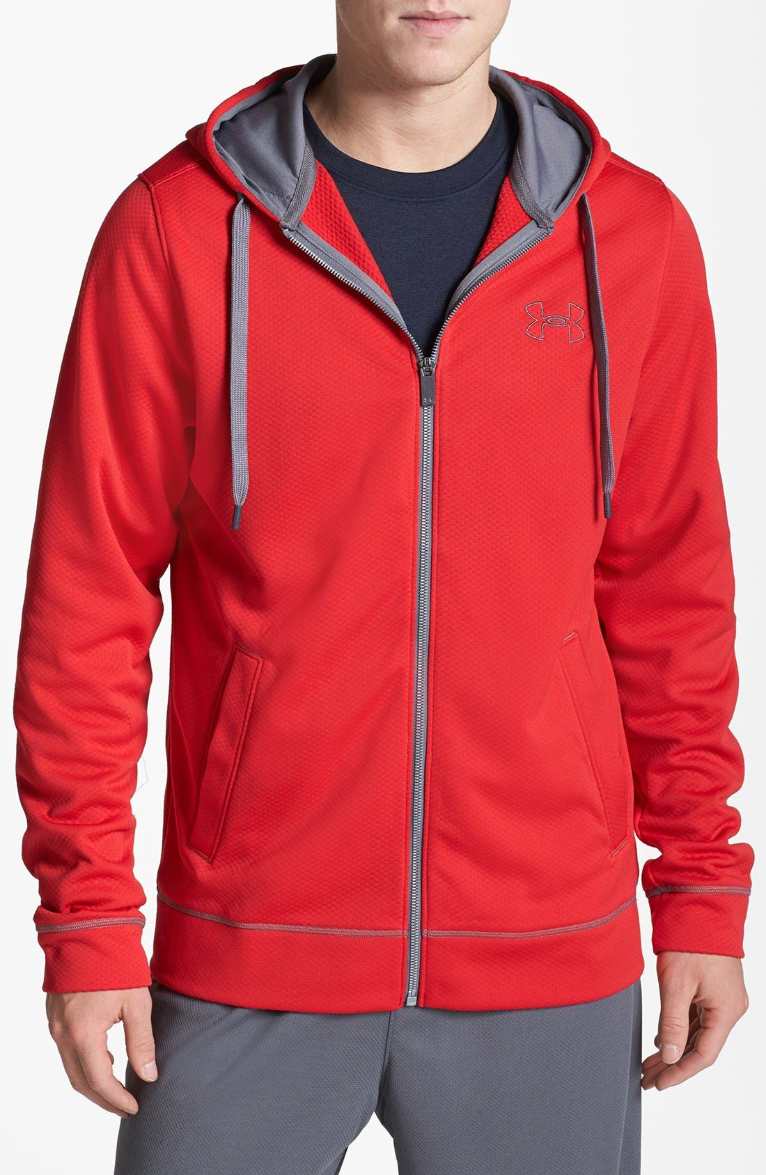 Alternate Image 1 Selected - Under Armour 'Tech' Loose Fit Fleece Hoodie