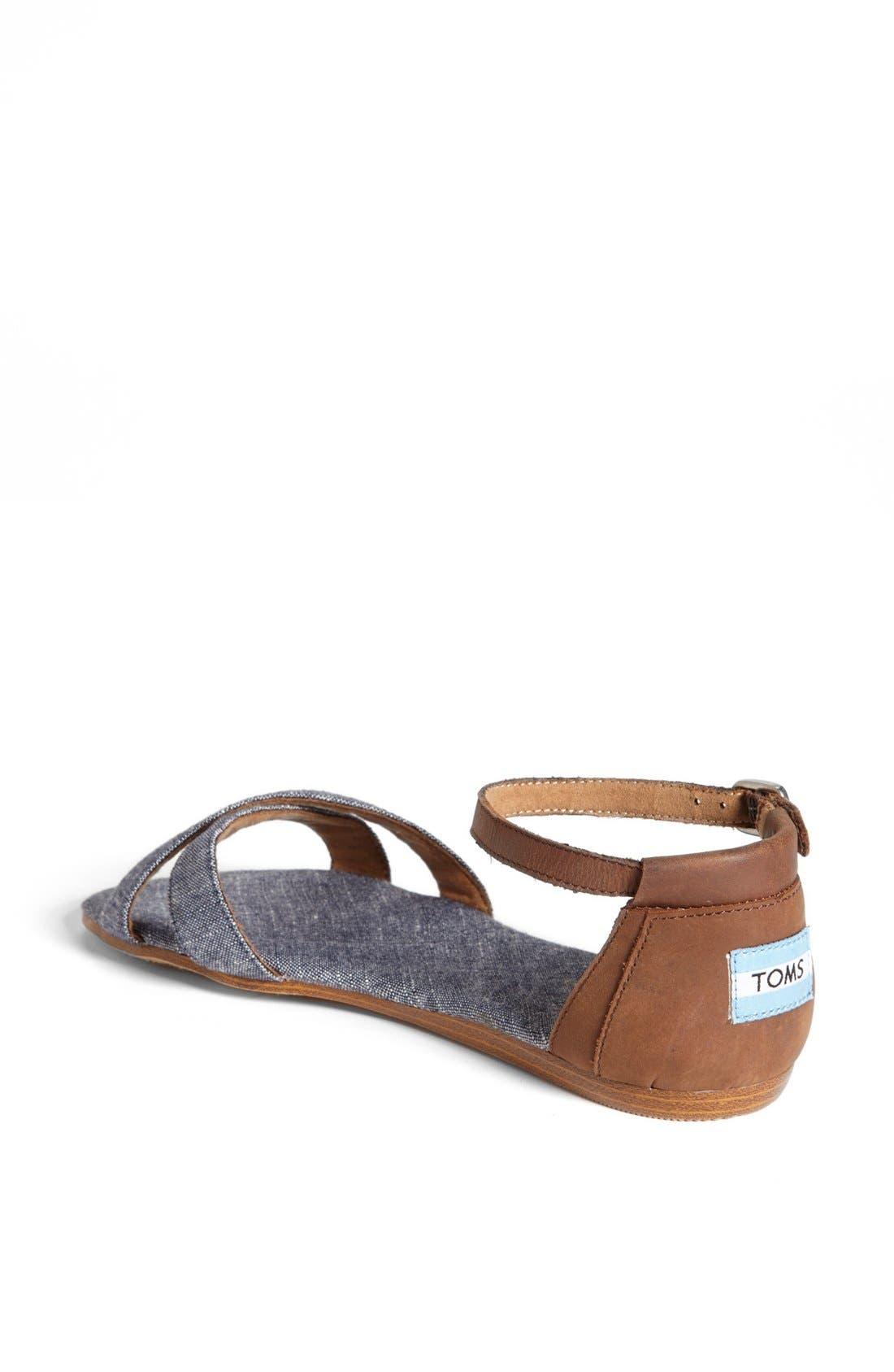 Alternate Image 2  - TOMS 'Correa' Ankle Strap Flat Sandal