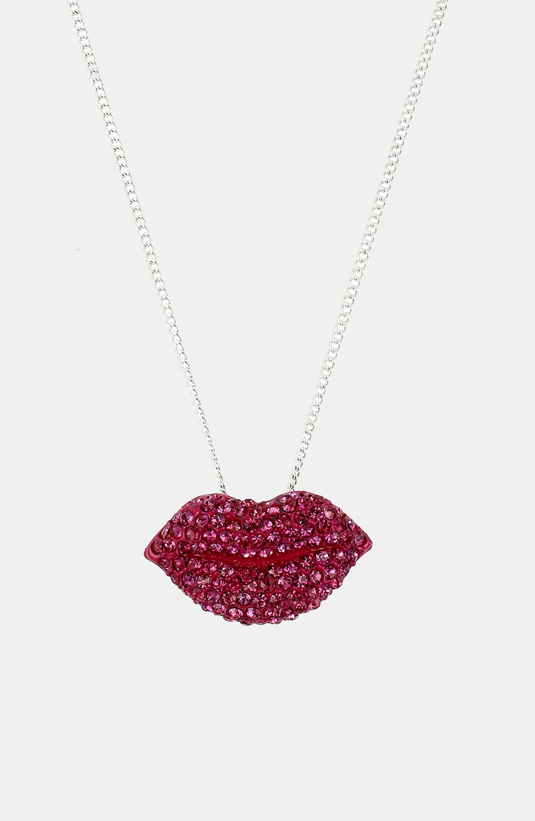 Main Image - Betsey Johnson 'Girlie' Pendant Necklace