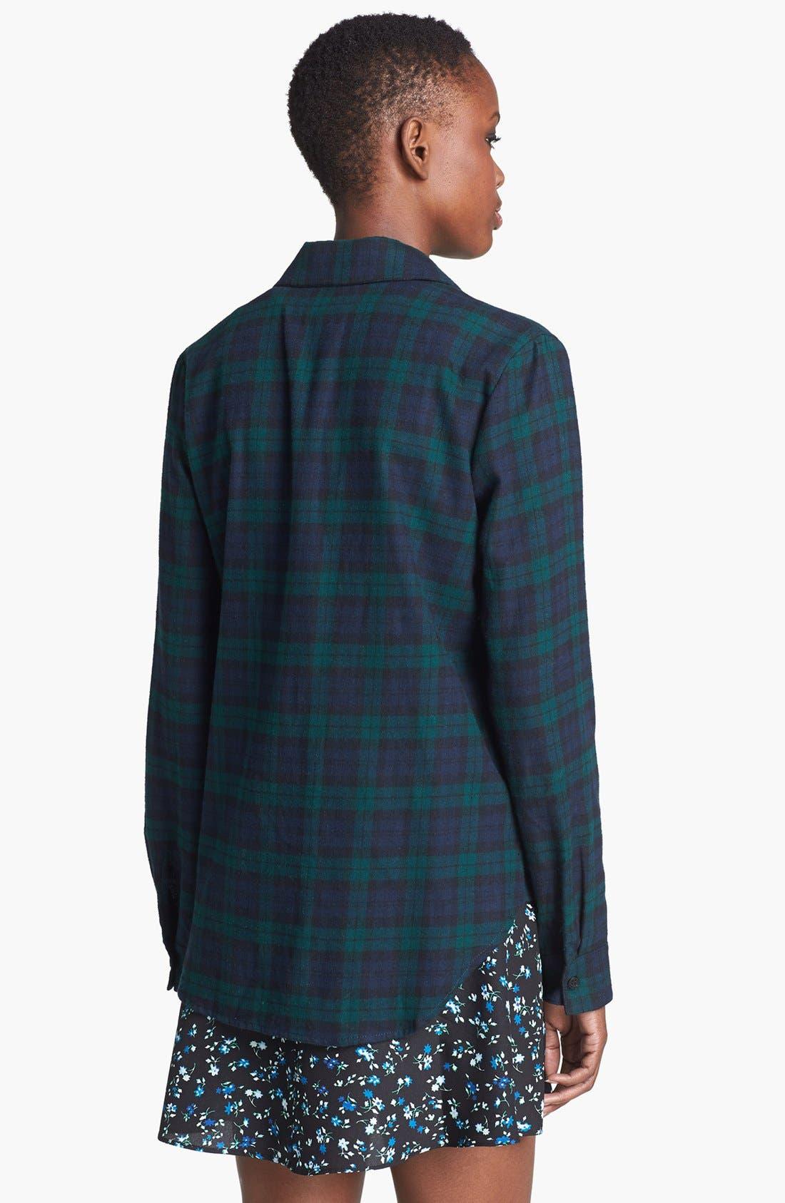 Alternate Image 2  - Wayf Plaid Flannel Shirt