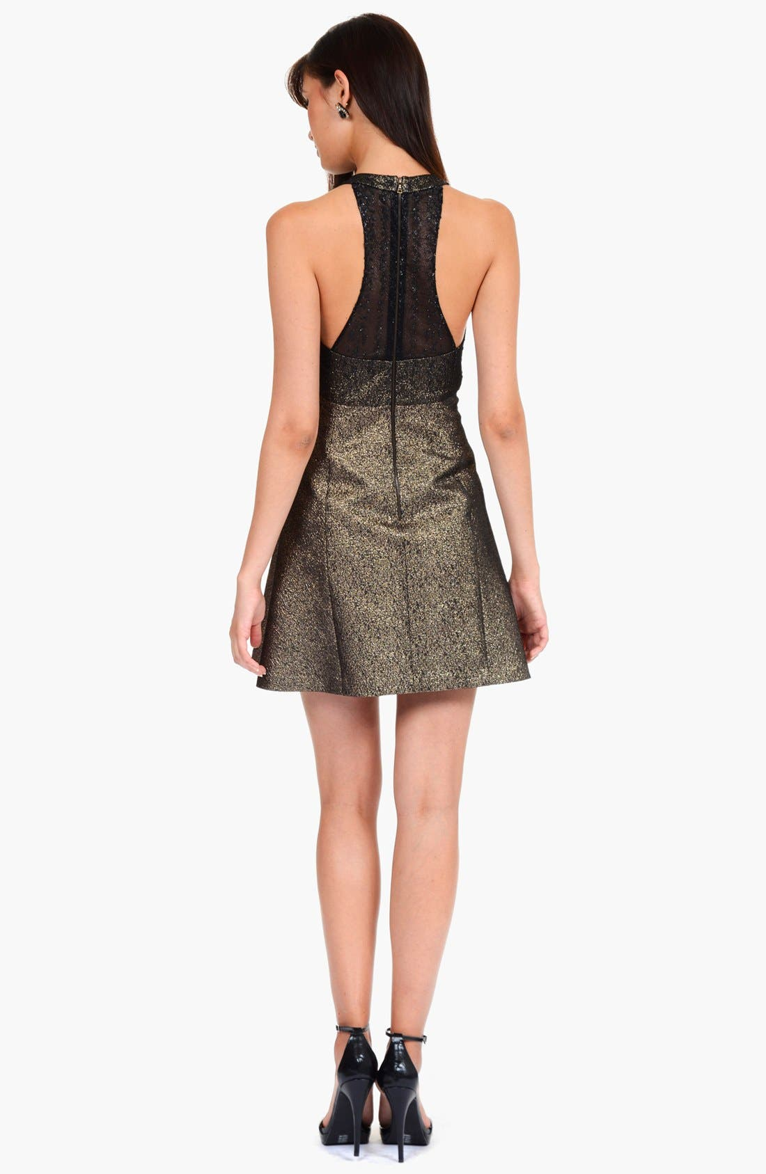 Alternate Image 2  - Phoebe by Kay Unger Metallic Racerback Fit & Flare Dress