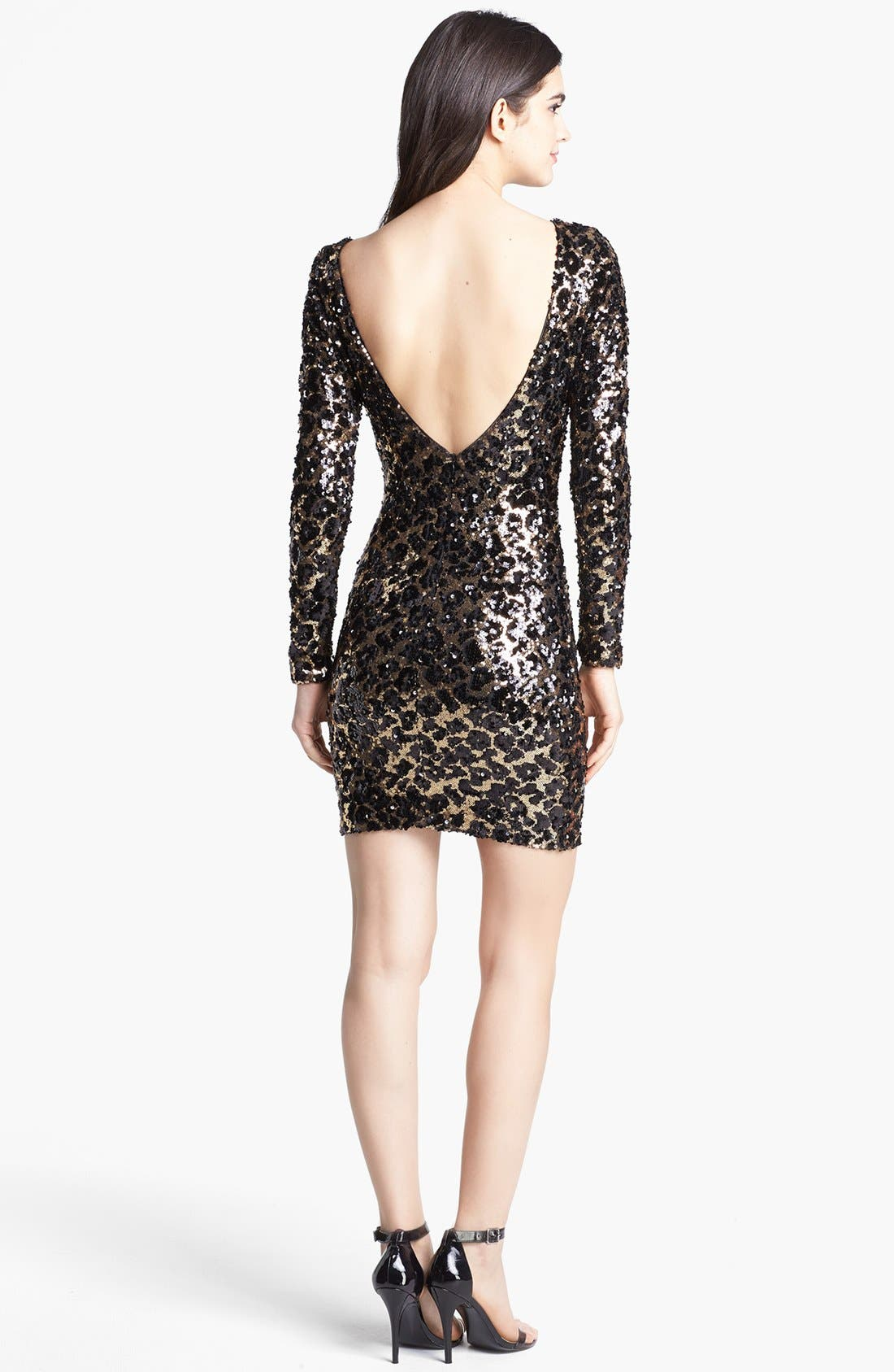Alternate Image 2  - Dress the Population 'Lola' Animal Sequin Dress
