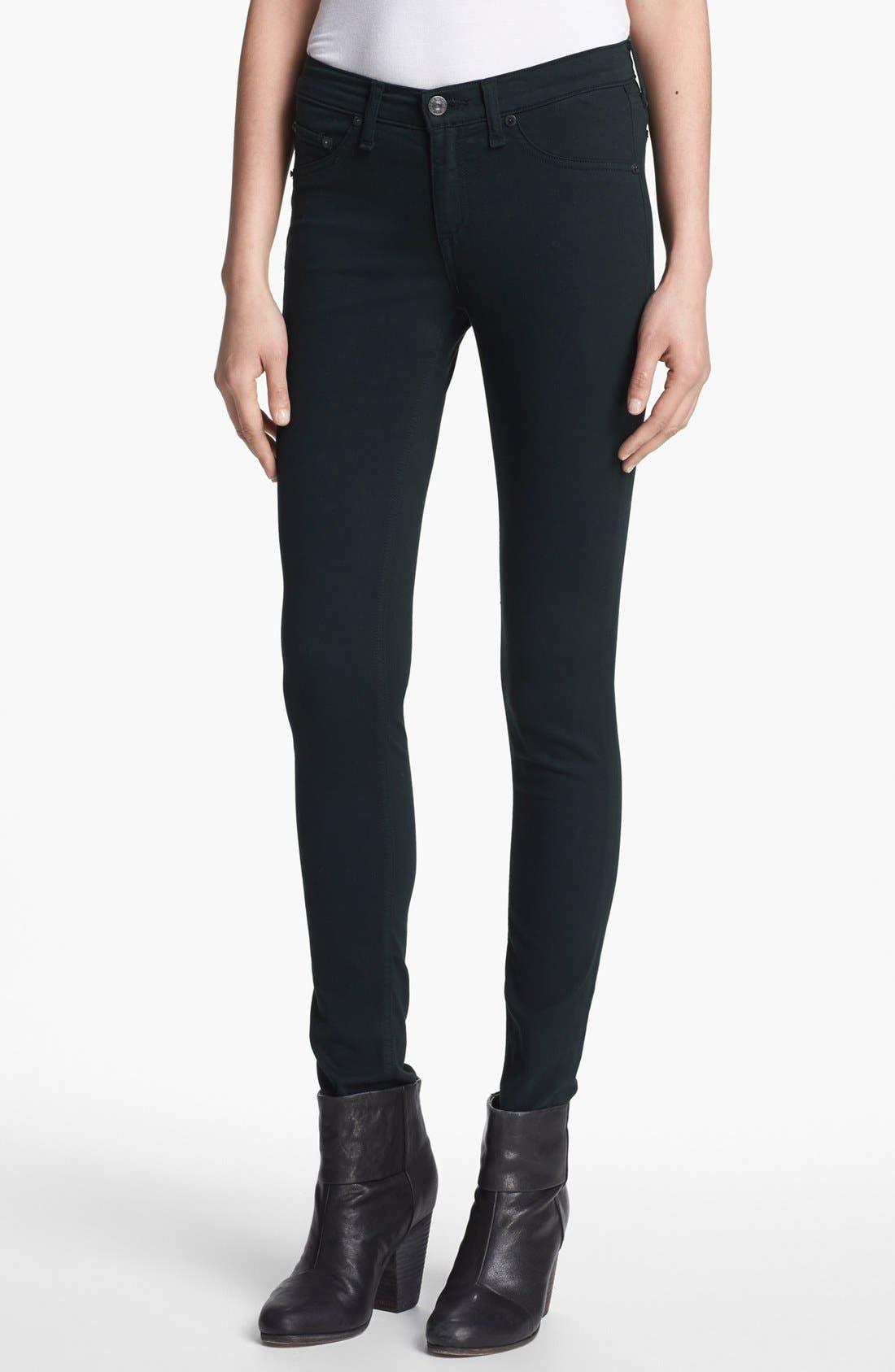 Alternate Image 1 Selected - rag & bone/JEAN Plush Twill Leggings