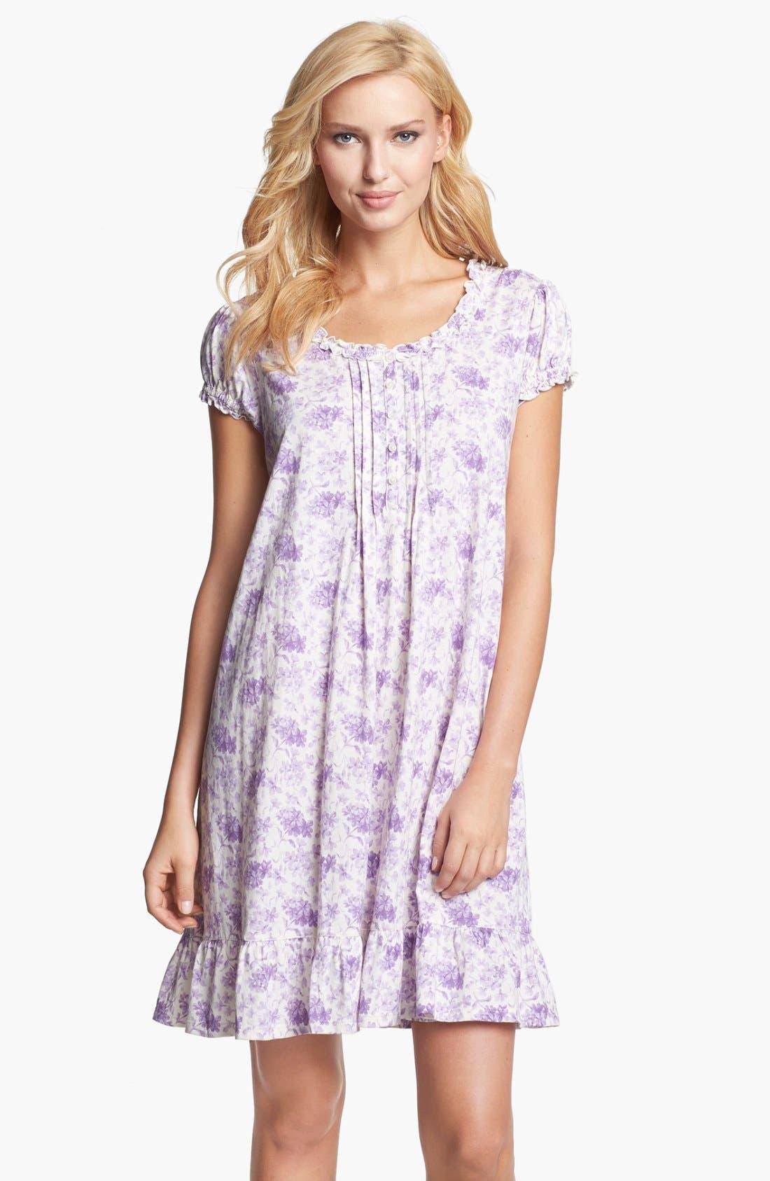 Alternate Image 1 Selected - Lauren Ralph Lauren 'Dunmore' Cotton Jersey Nightgown