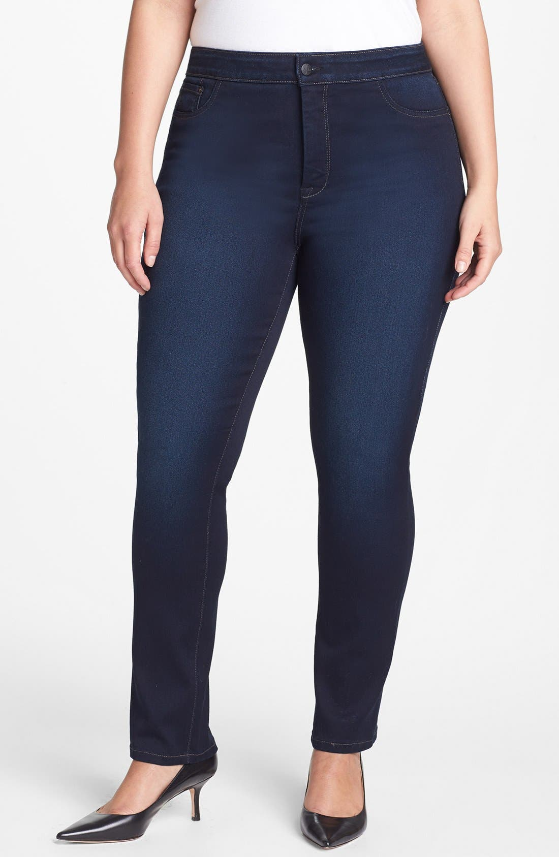 Alternate Image 1 Selected - NYDJ 'Jaclyn' Stretch Skinny Jeans (Pasadena) (Plus Size)