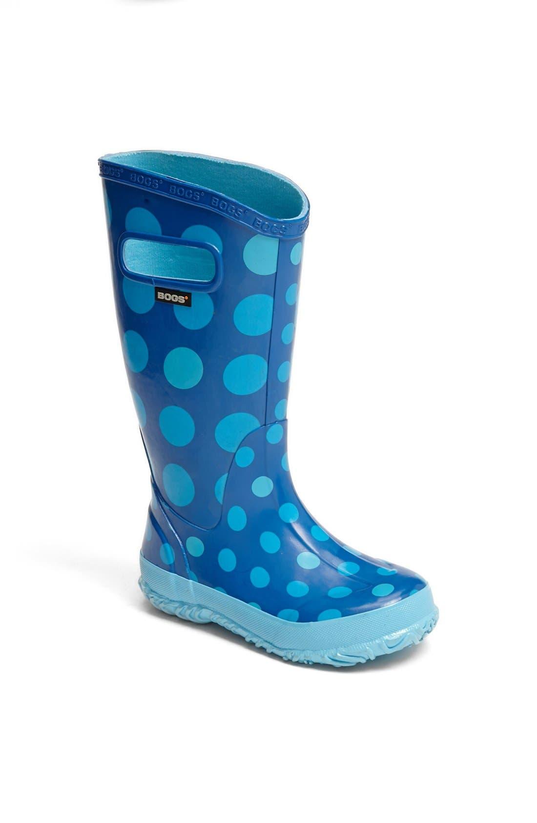 Main Image - Bogs 'Dots' Rain Boot (Walker, Toddler, Little Kid & Big Kid)