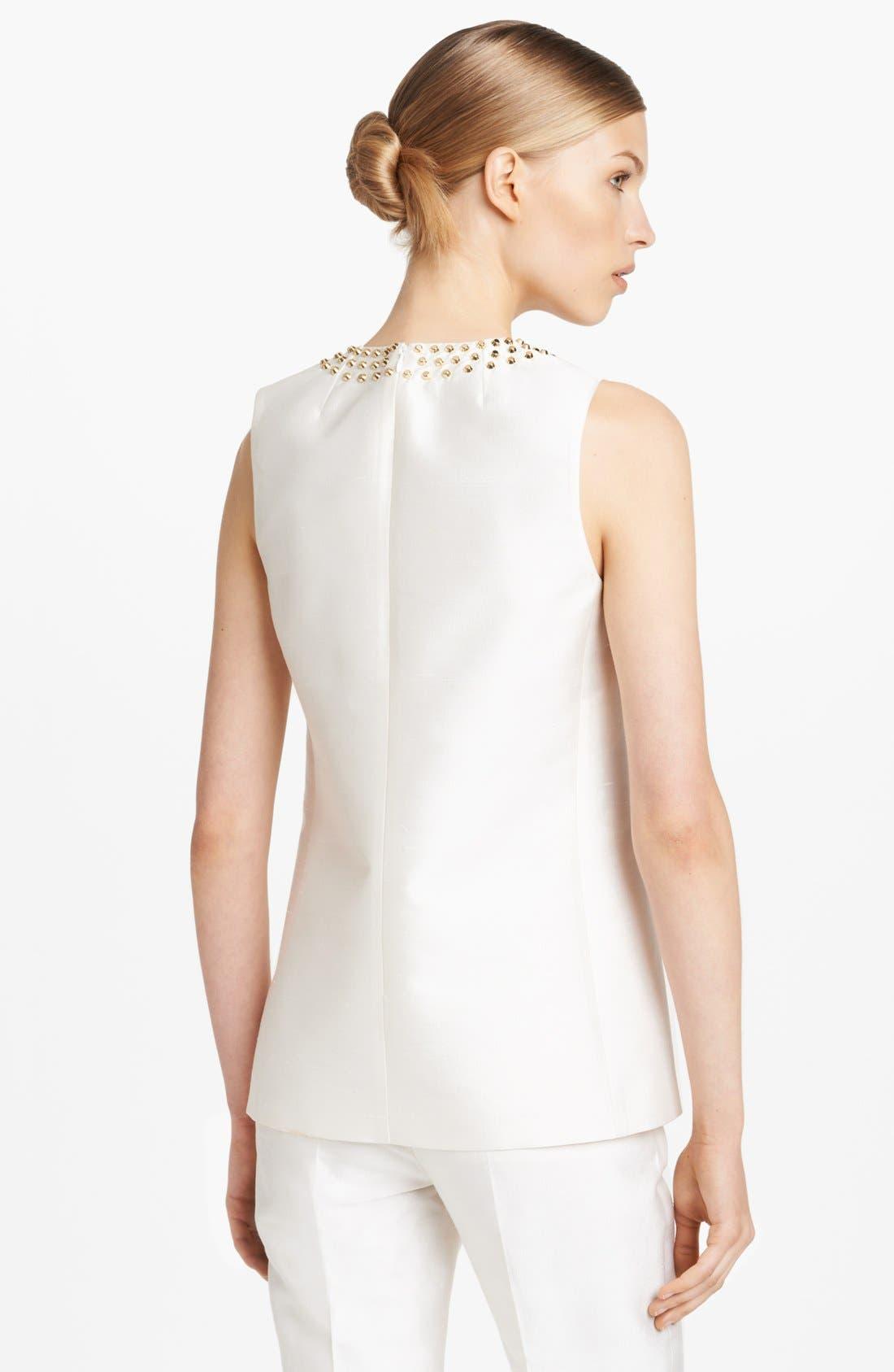 Alternate Image 2  - Michael Kors Studded Silk & Wool Top