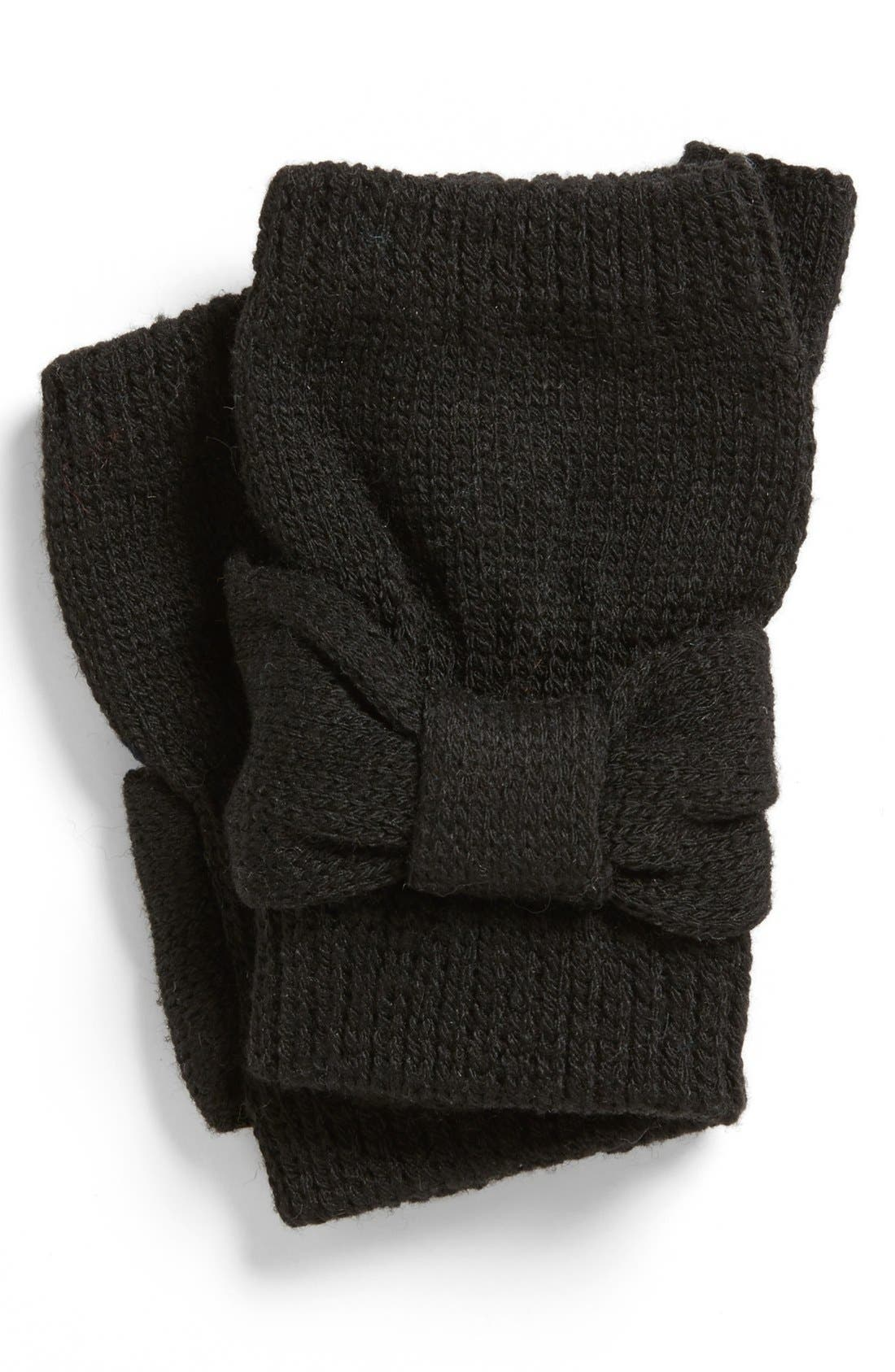 Alternate Image 1 Selected - David & Young Bow Fingerless Gloves (Juniors)