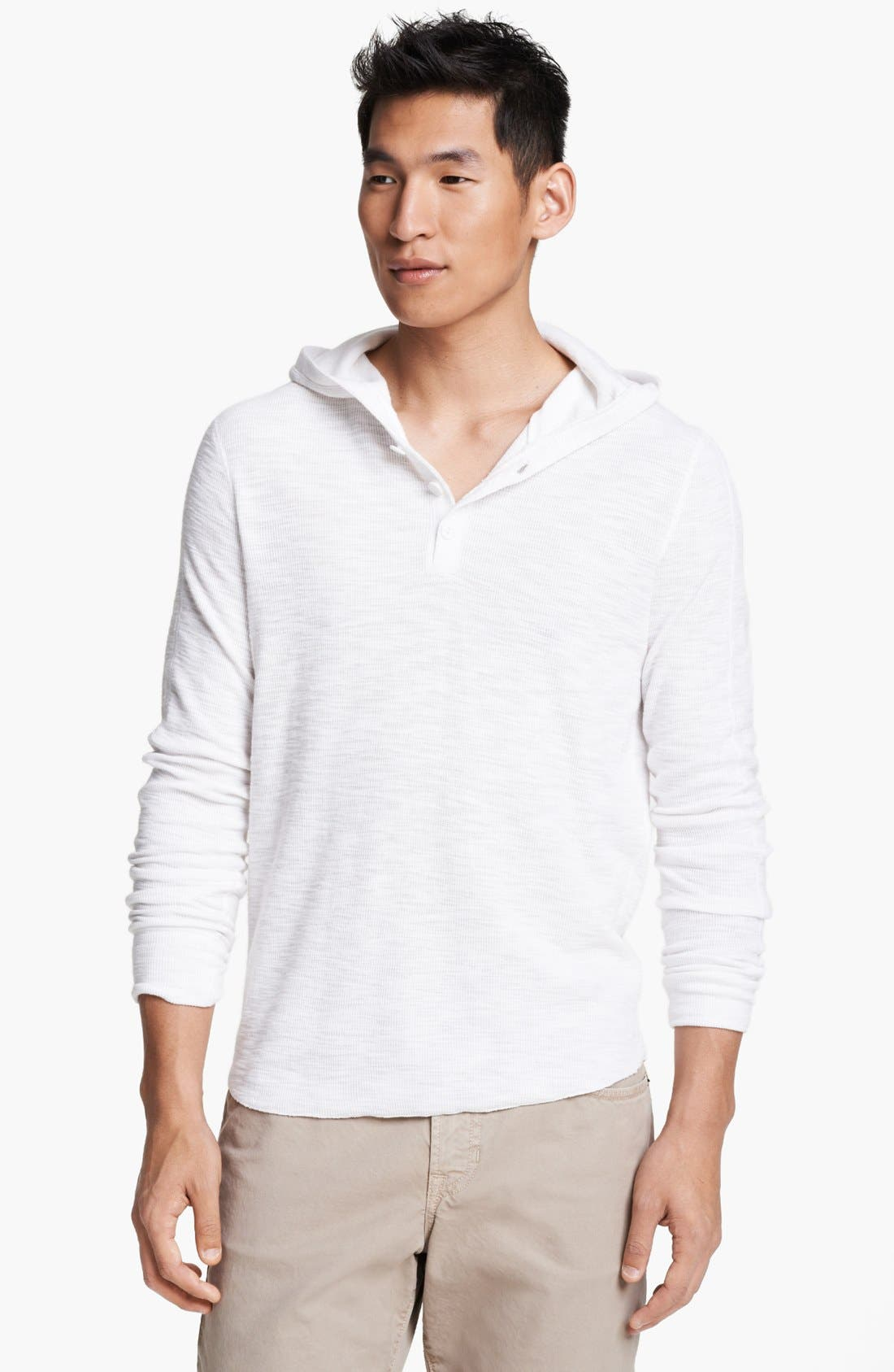 Alternate Image 1 Selected - Vince Hooded Henley Thermal T-Shirt