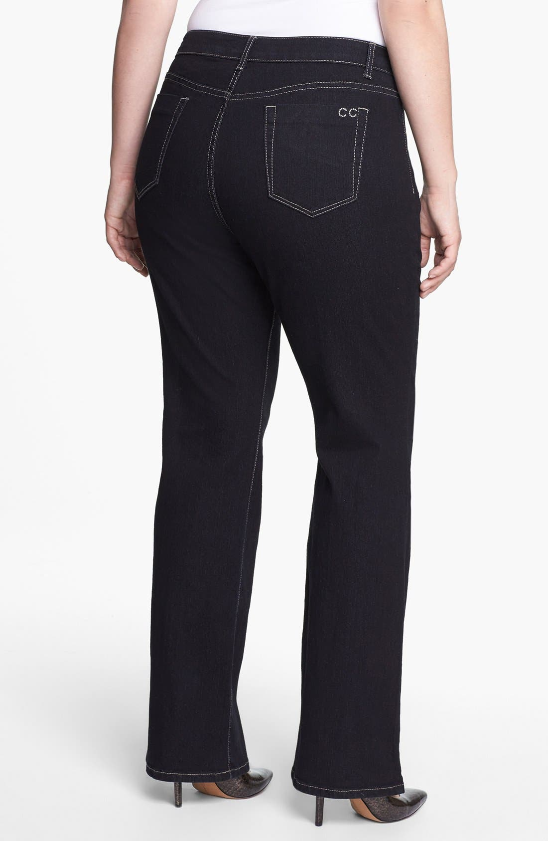 Alternate Image 2  - City Chic 'Glam' Bootcut Stretch Jeans (Plus Size)