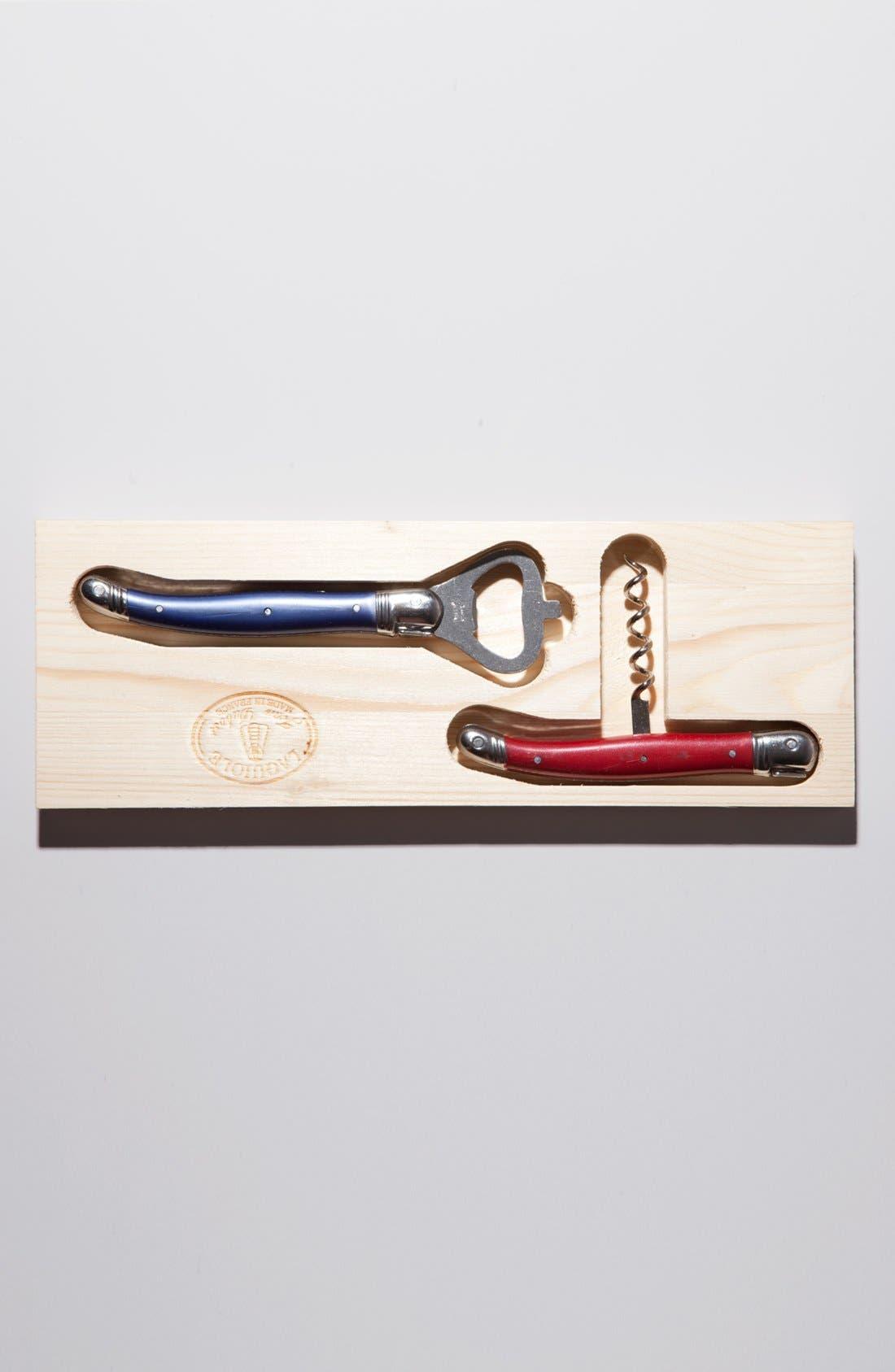 Alternate Image 2  - Laguiole by Jean Dubost Corkscrew & Bottle Opener Set