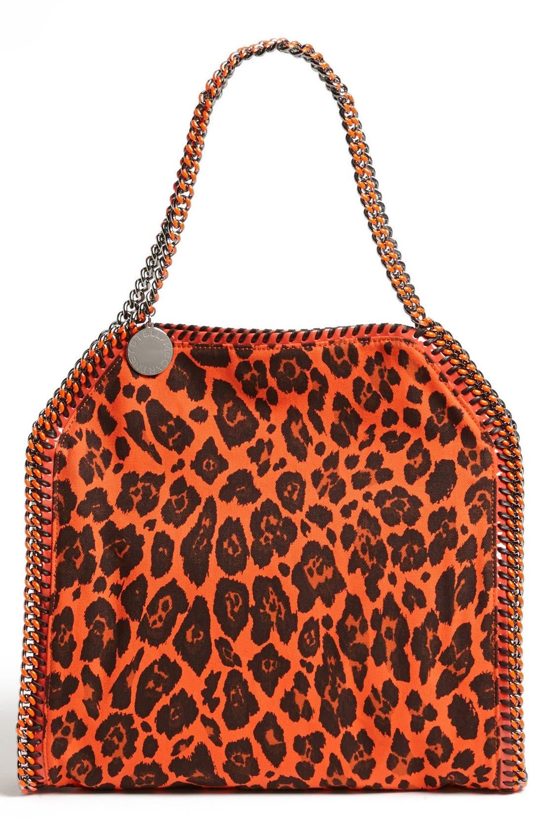Main Image - Stella McCartney 'Falabella -Small' Leopard Print Tote