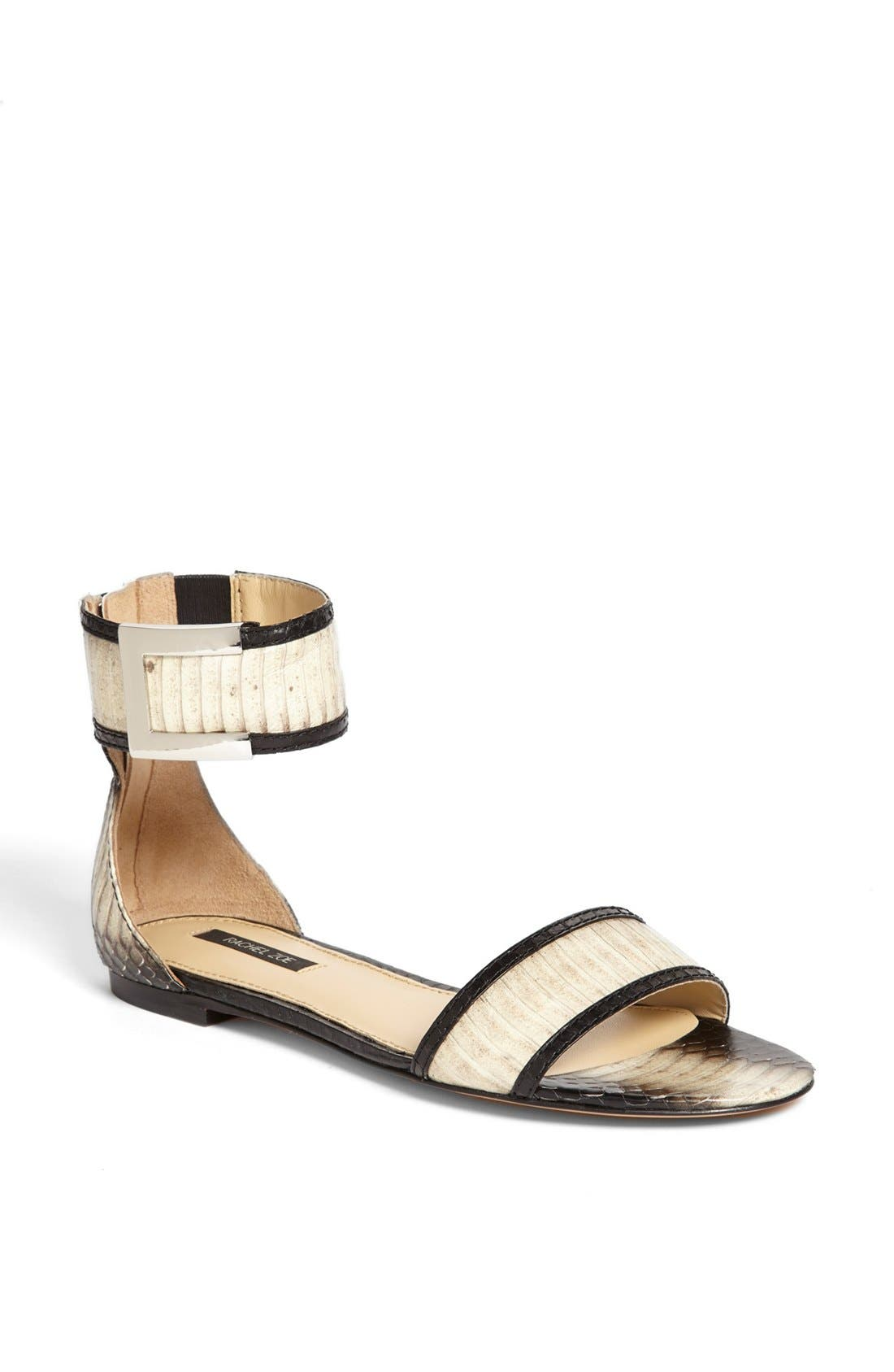 Alternate Image 1 Selected - Rachel Zoe 'Gracie' Genuine Snakeskin Sandal