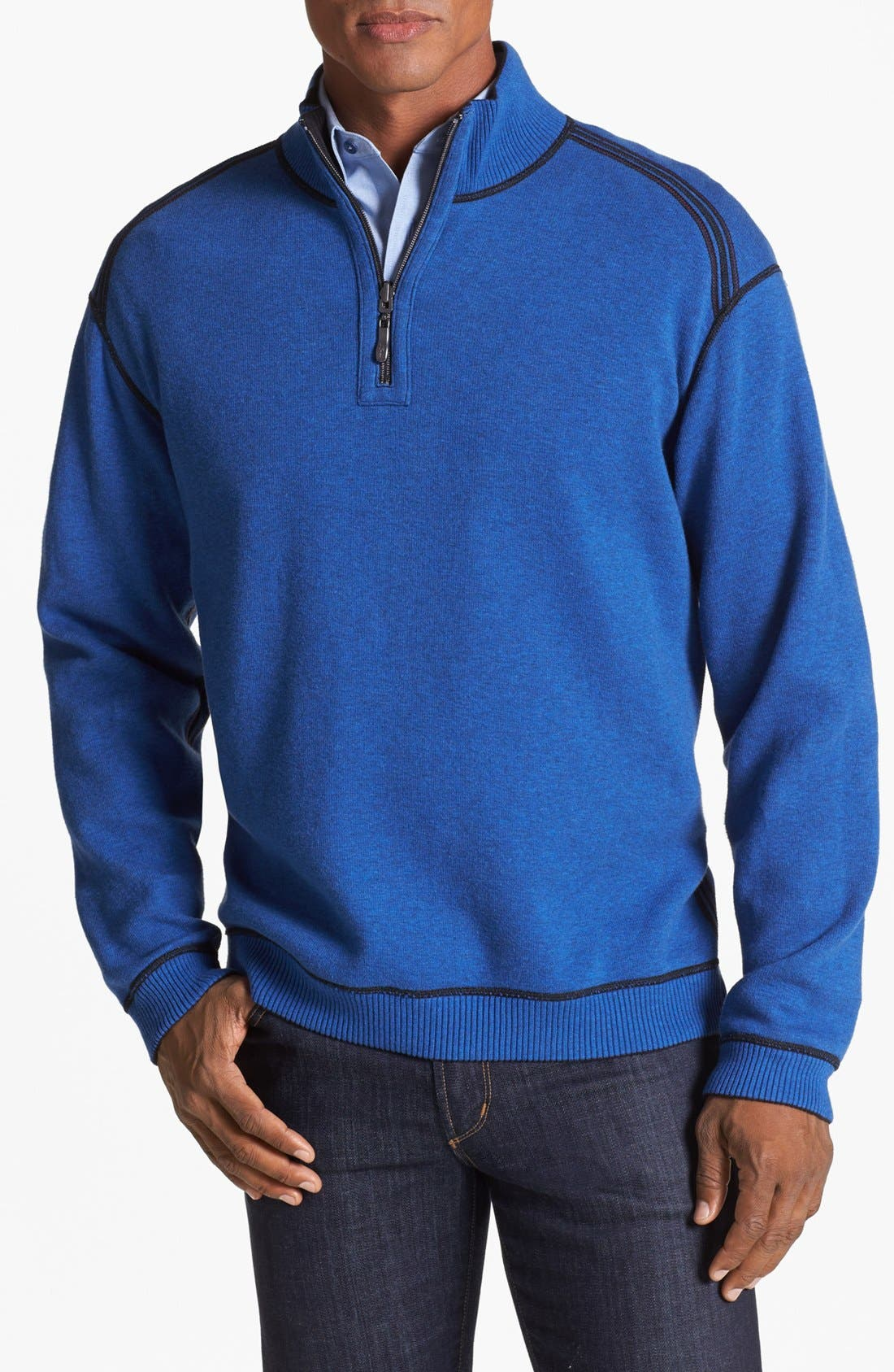 Alternate Image 2  - Tommy Bahama 'Flip Side Pro' Half Zip Pullover (Big & Tall)