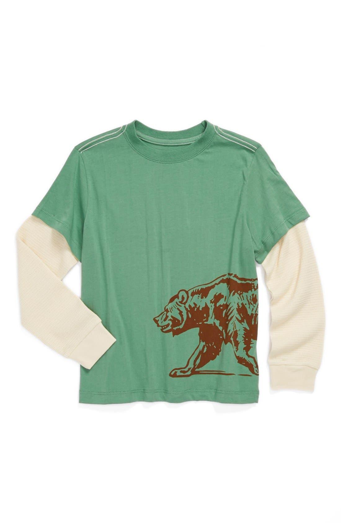 Alternate Image 1 Selected - Peek 'Bear' T-Shirt (Toddler Boys, Little Boys & Big Boys)