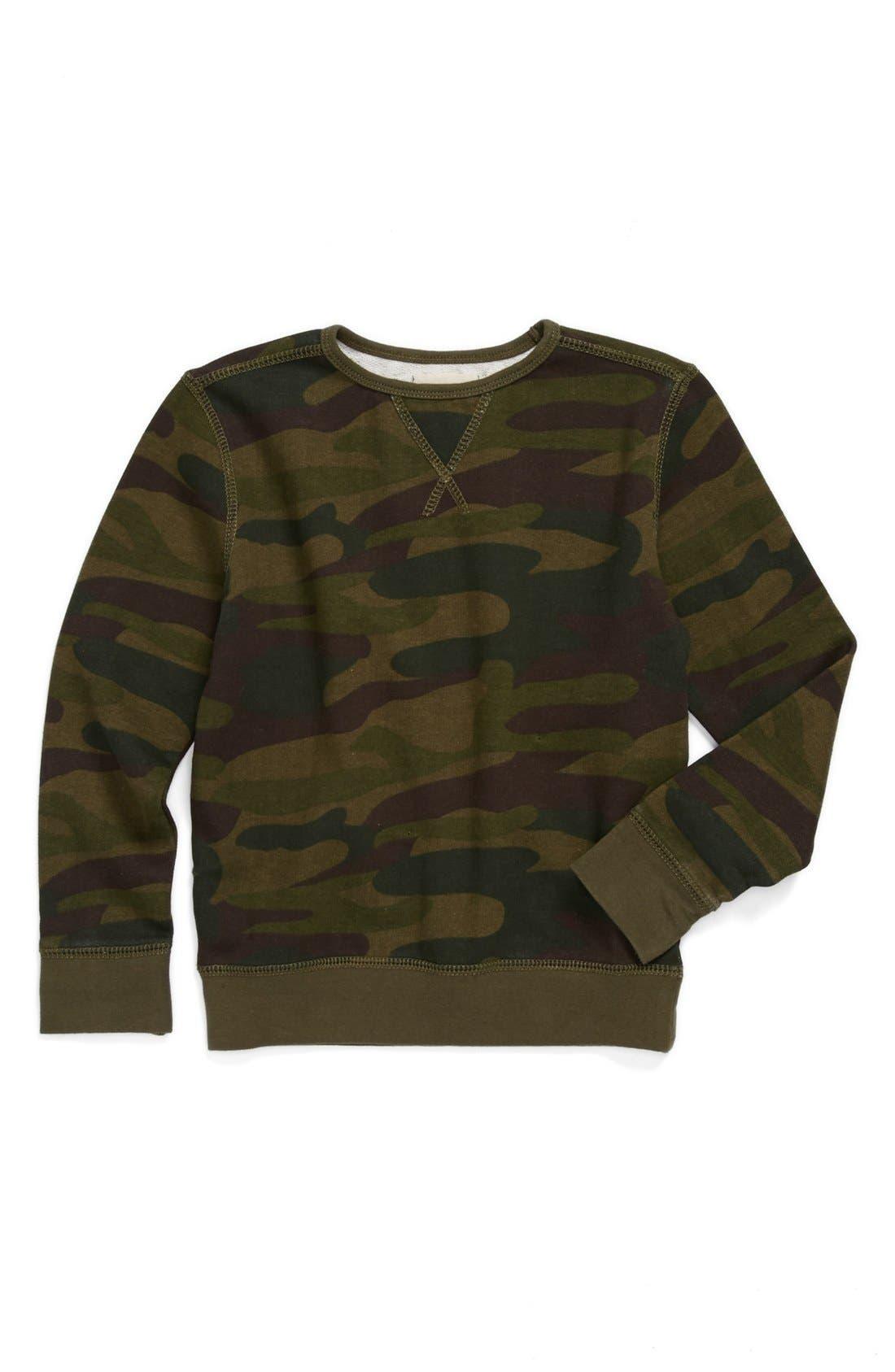 Alternate Image 1 Selected - Peek 'Camo' Sweatshirt (Toddler Boys, Little Boys & Big Boys)