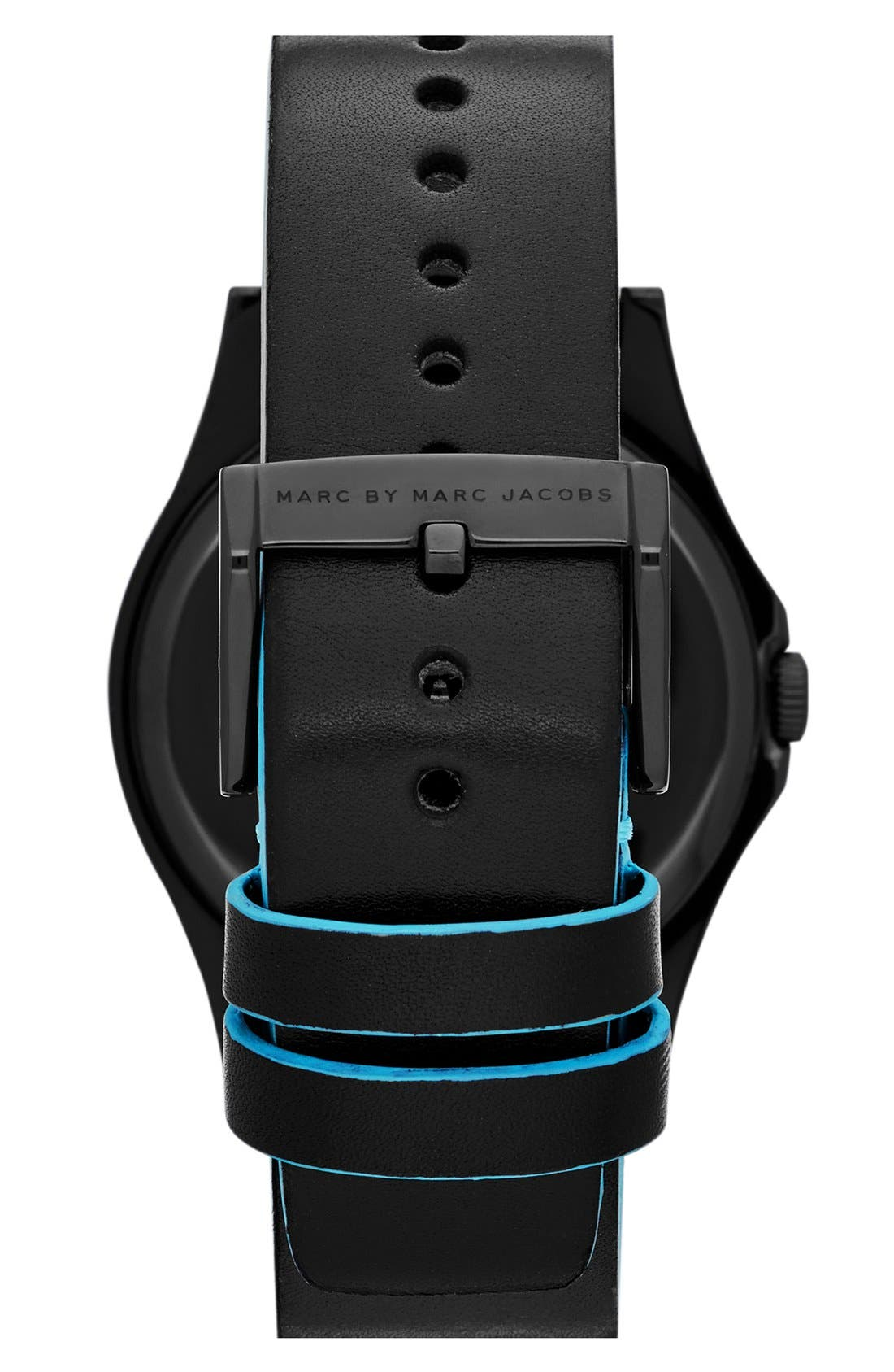 Alternate Image 3  - MARC BY MARC JACOBS 'Hattie' Leather Strap Watch, 40mm
