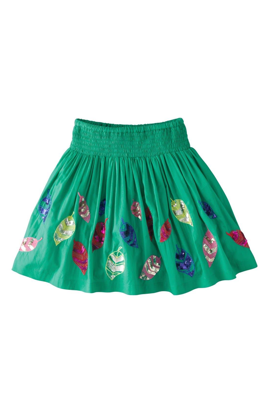 Alternate Image 1 Selected - Mini Boden 'Decorative' Cotton Voile Skirt (Toddler Girls, Little Girls & Big Girls)