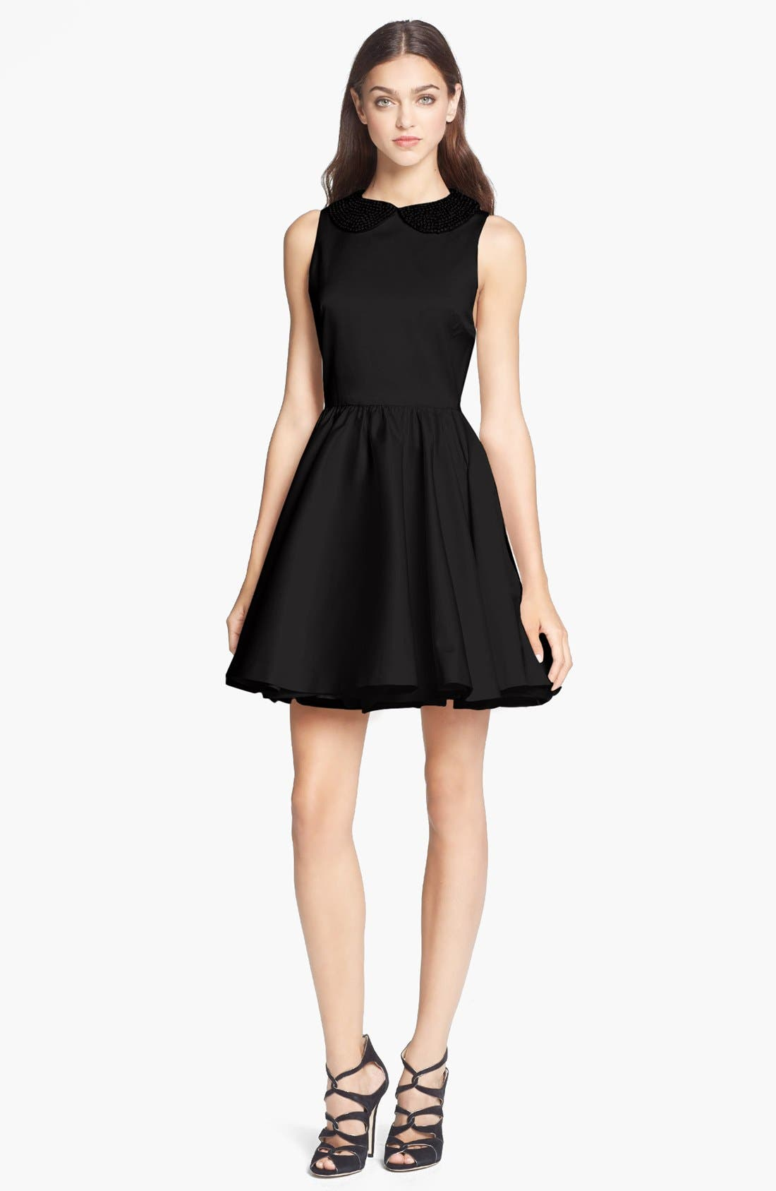Main Image - Alice + Olivia 'Lollie' Beaded Collar Dress