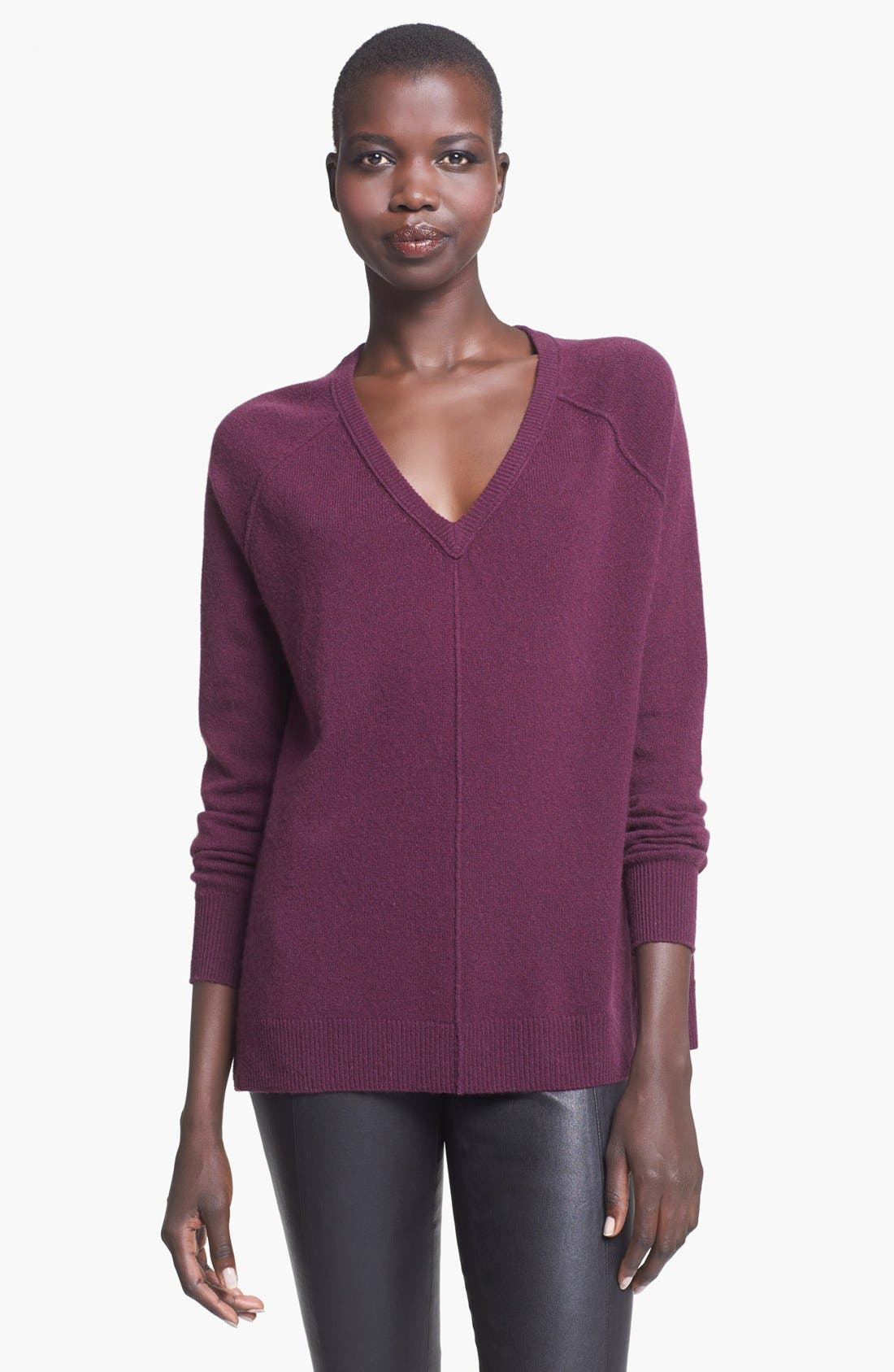 Alternate Image 1 Selected - autumn cashmere V-Neck Cashmere Sweater