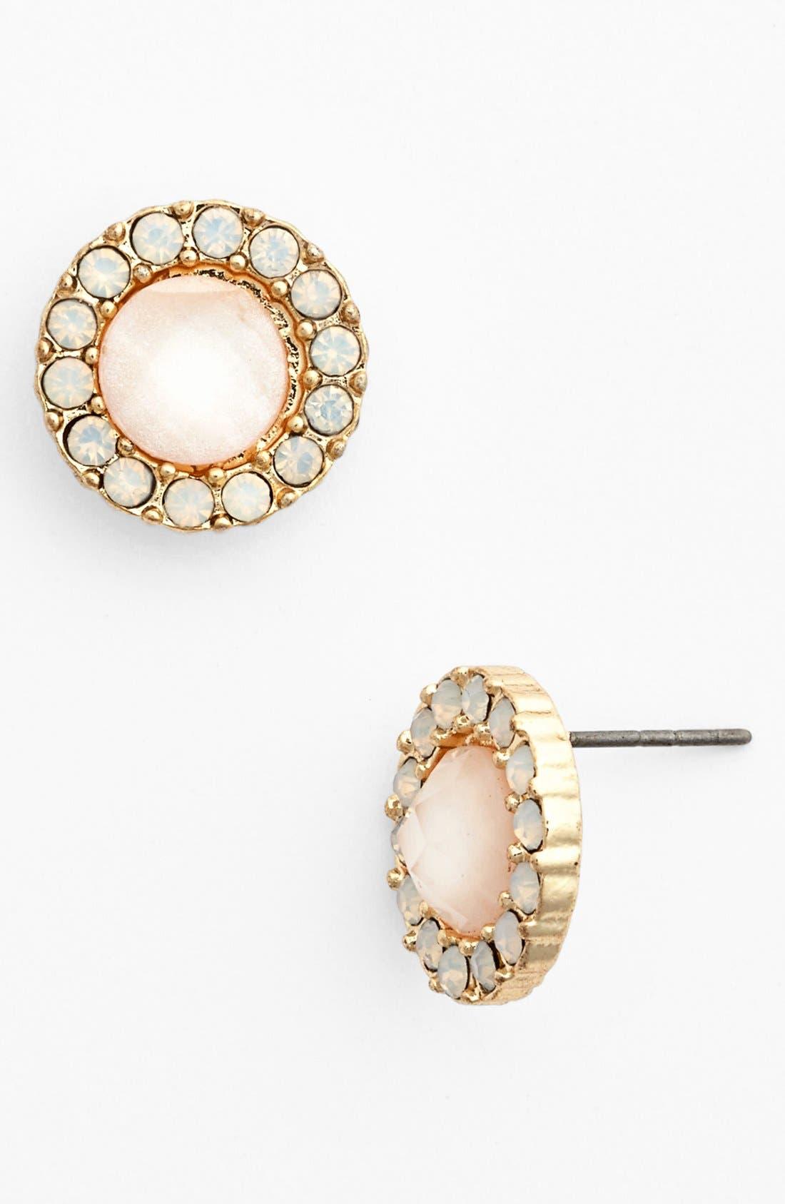 Alternate Image 1 Selected - BP. Round Crystal Stud Earrings (Juniors)