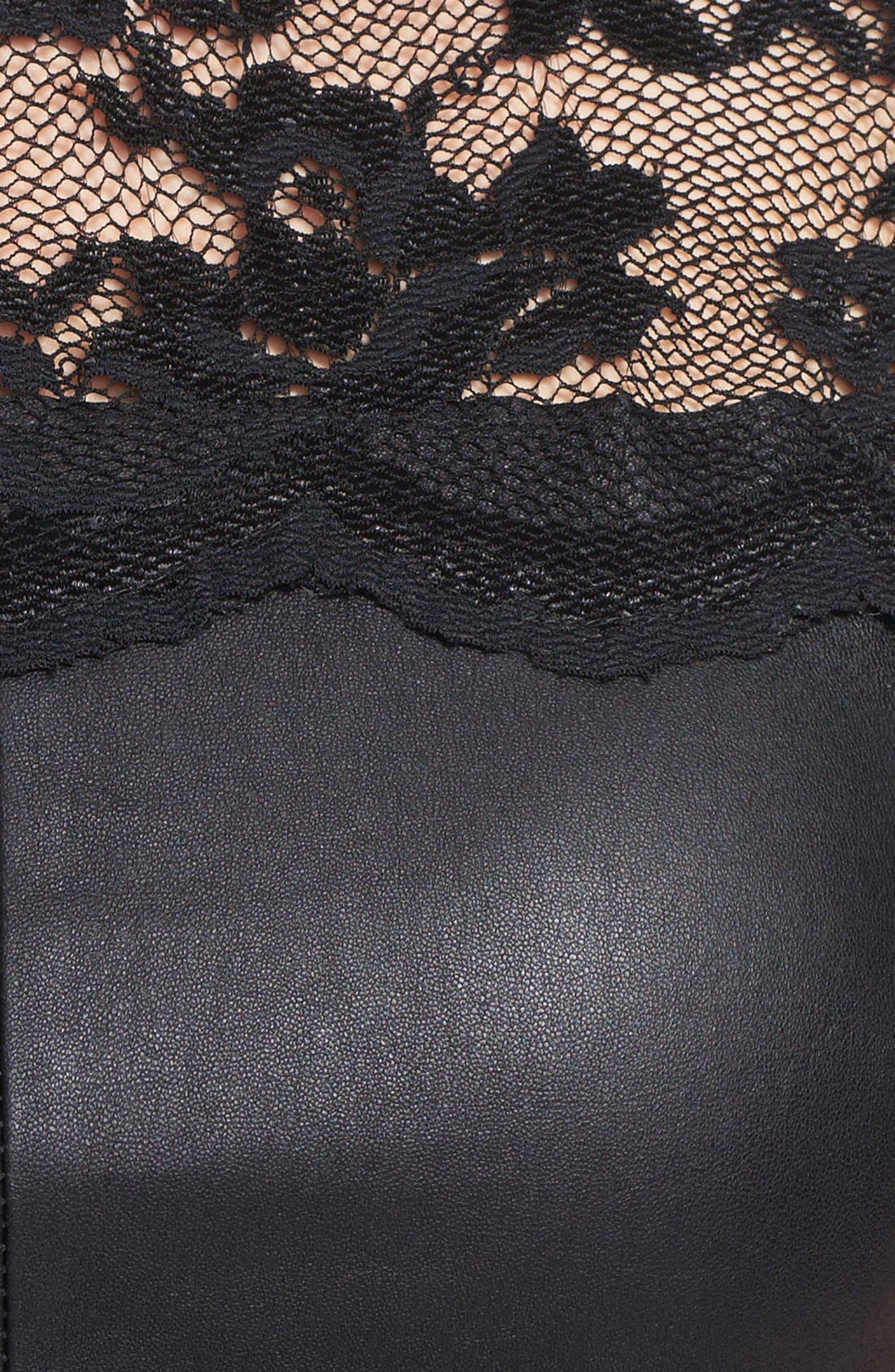 Alternate Image 3  - Robert Rodriguez Lace & Leather Top
