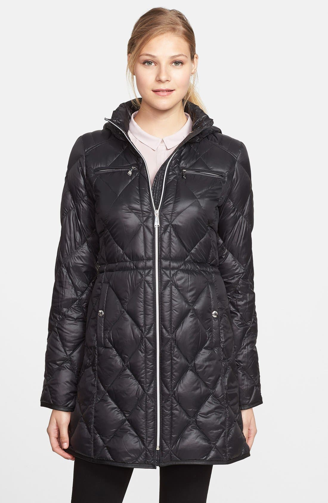 Main Image - MICHAEL Michael Kors Hooded Down Walking Coat (Online Only)