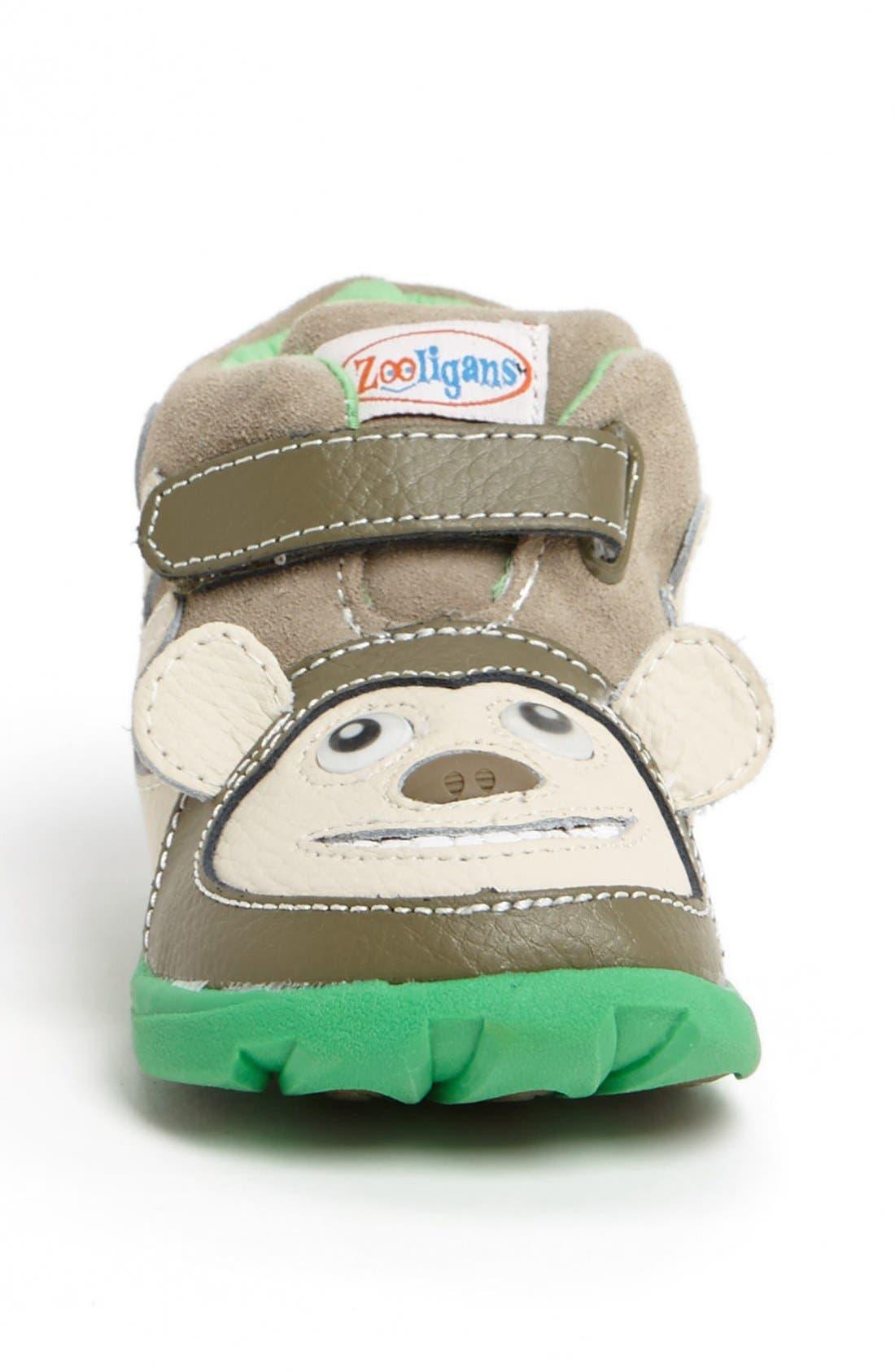 Alternate Image 3  - Zooligans™ 'Bobo the Monkey' Sneaker (Baby, Walker, Toddler & Little Kid)