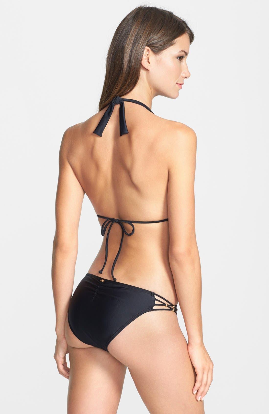 Alternate Image 4  - PilyQ 'Midnight Gold' Braided Bikini Bottoms