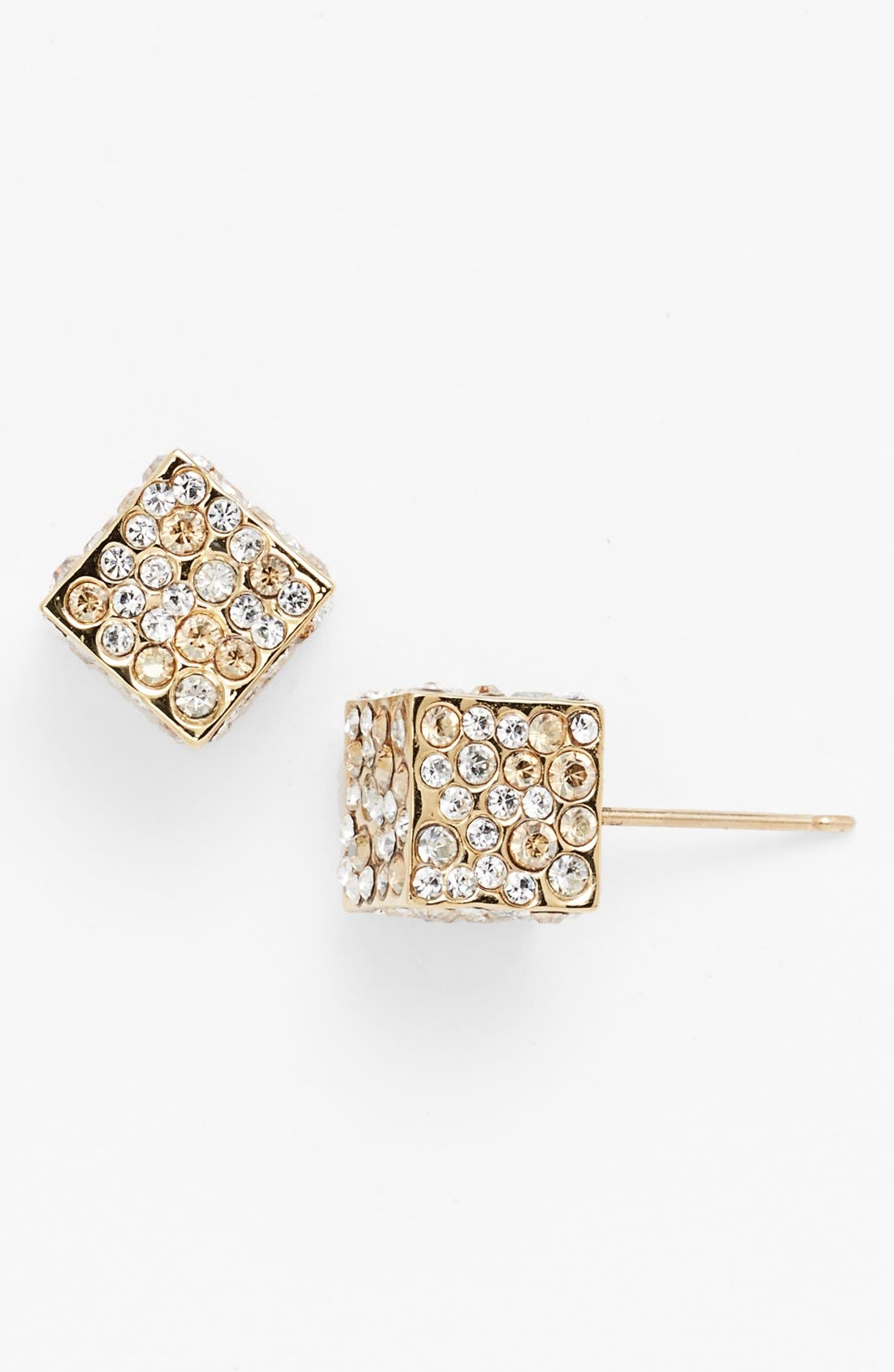 Main Image - St. John Collection Pave Crystal Cube Stud Earrings