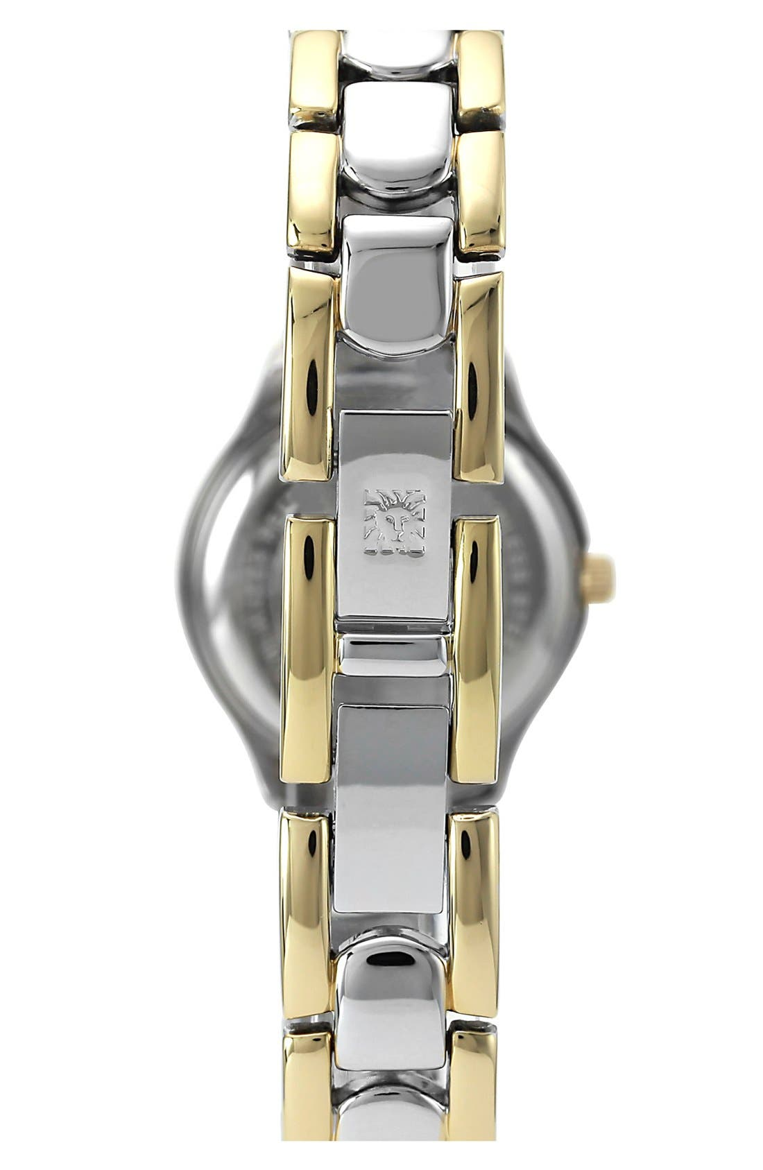 Alternate Image 2  - Anne Klein Two Tone Bracelet Watch, 22mm