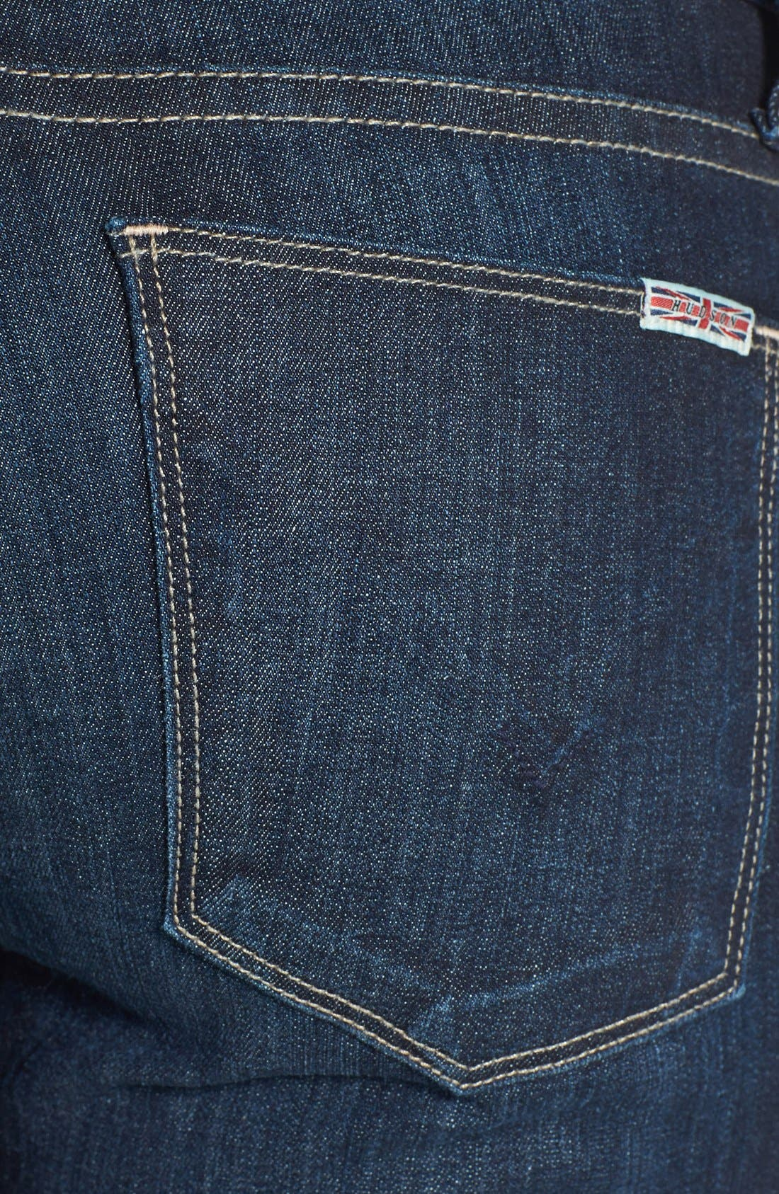 Alternate Image 3  - Hudson Jeans 'Collette' Mid Rise Skinny Jeans (Skyline)