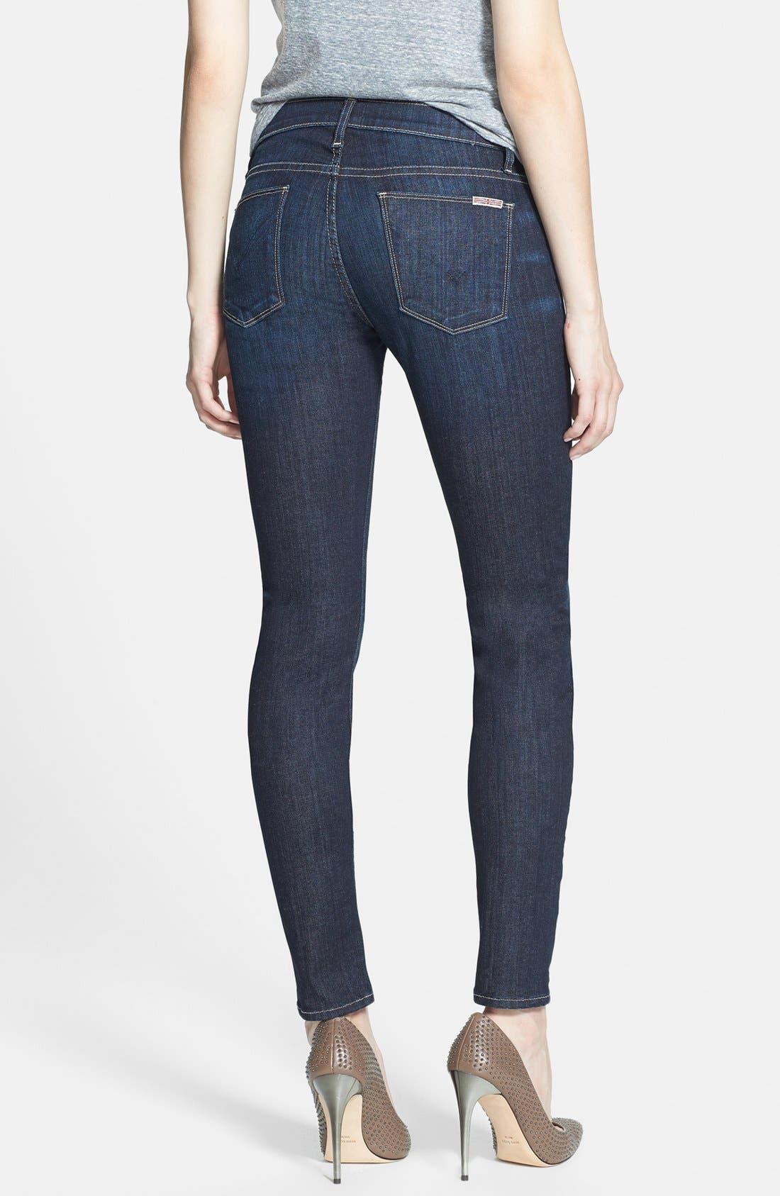 Alternate Image 2  - Hudson Jeans 'Collette' Mid Rise Skinny Jeans (Skyline)
