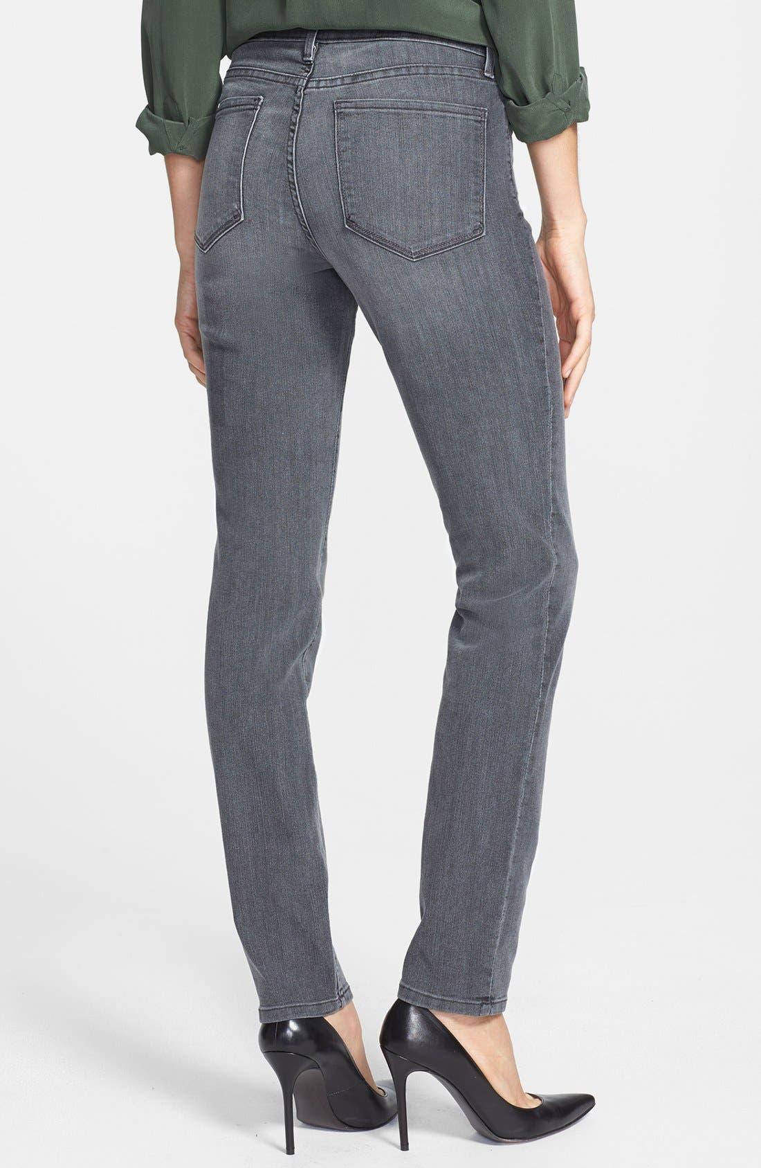 Alternate Image 2  - NYDJ 'Alina' Stretch Skinny Jeans (Basalt) (Petite)
