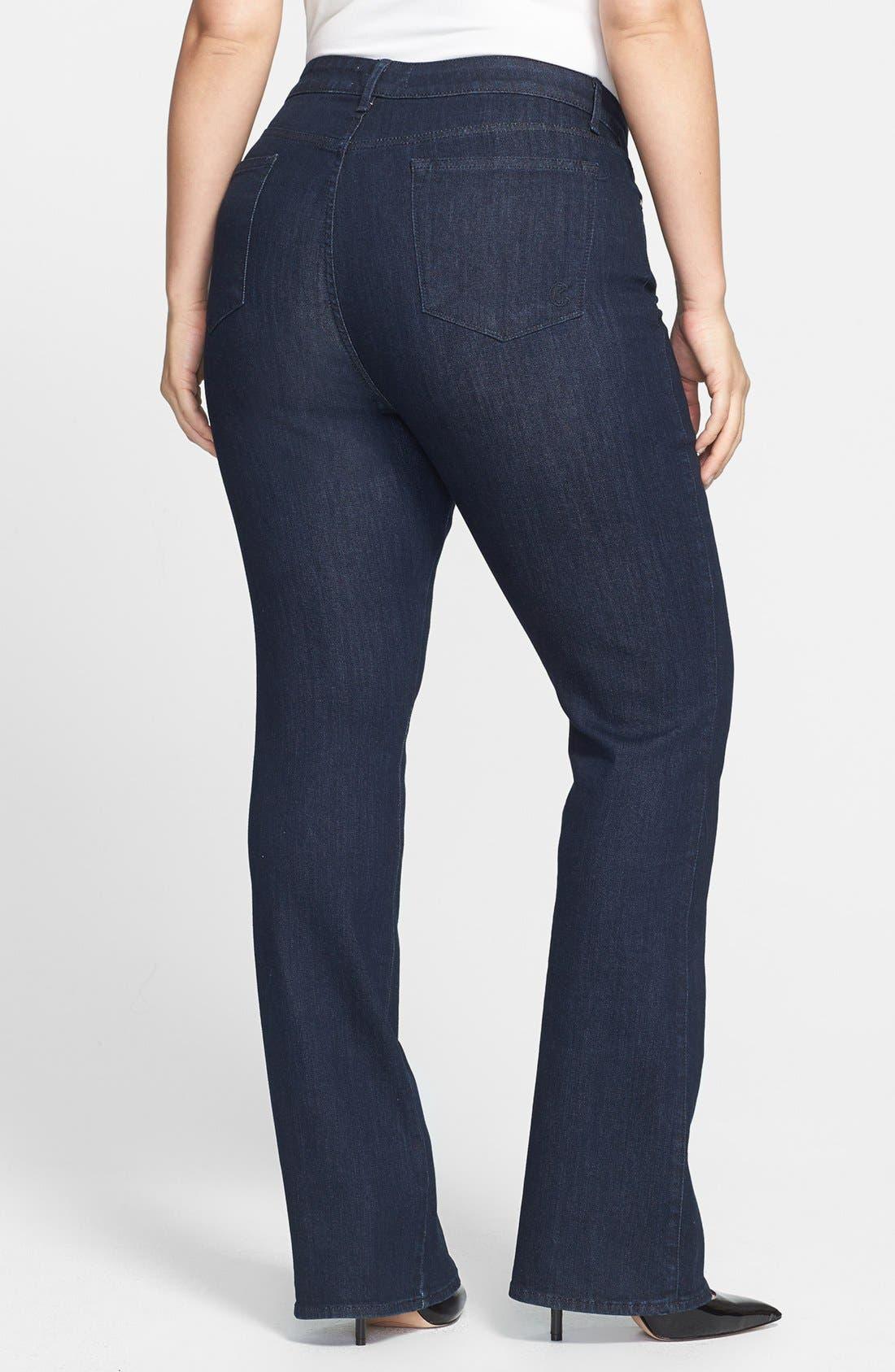Alternate Image 2  - CJ by Cookie Johnson 'Grace' Bootcut Stretch Jeans (Plus Size)