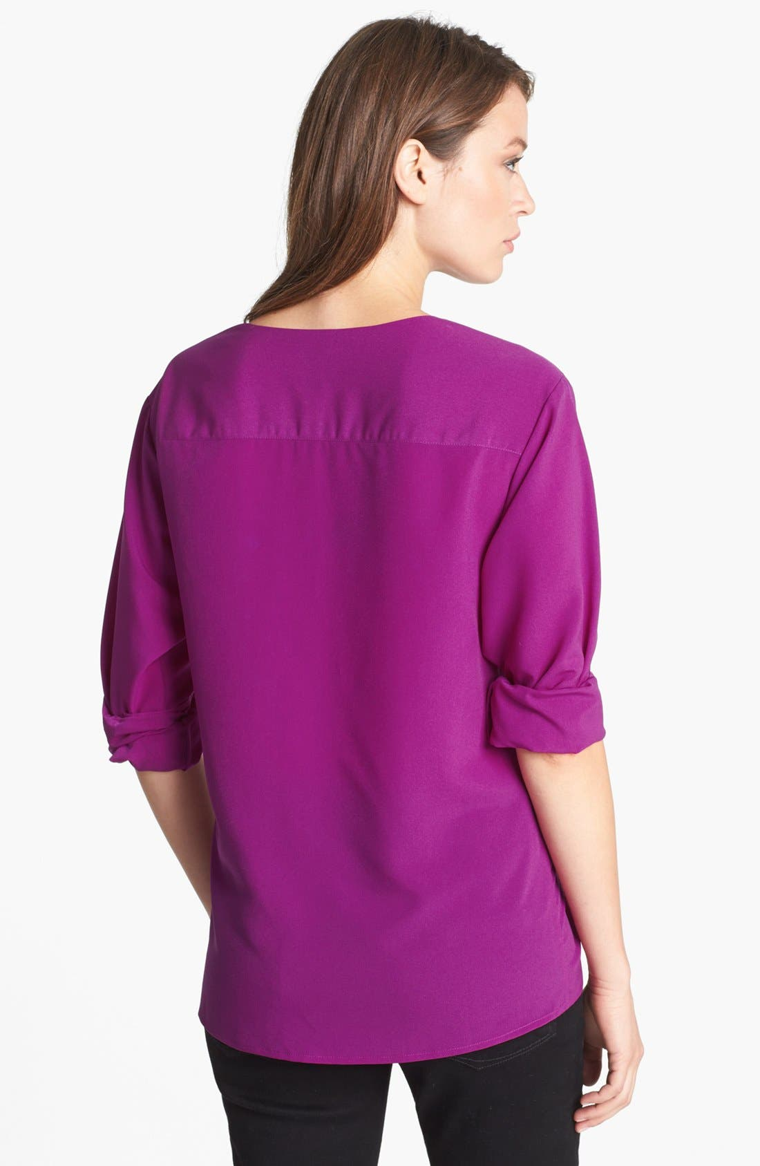 Alternate Image 2  - Anne Klein V-Neck Shirt