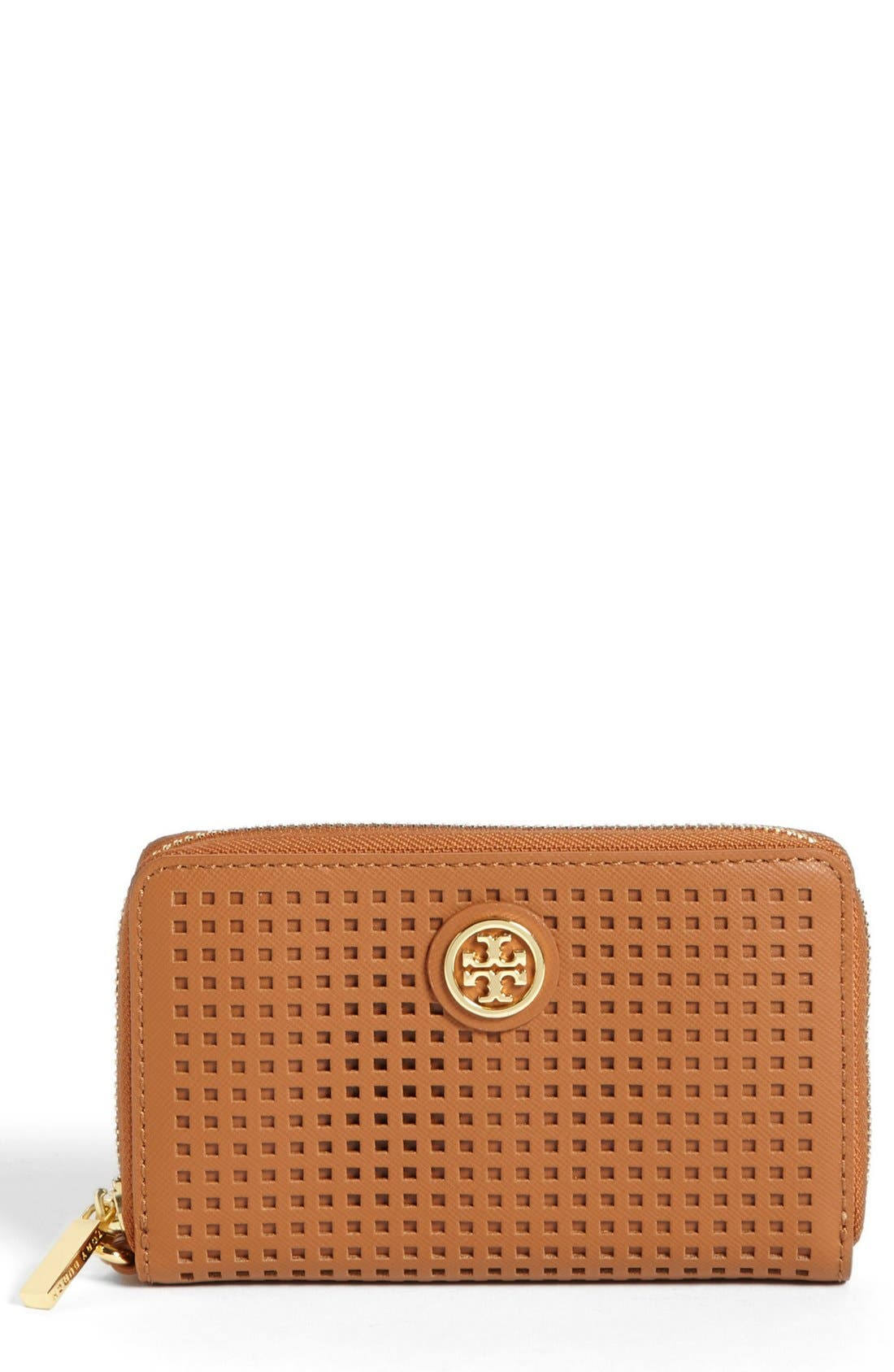 Alternate Image 1 Selected - Tory Burch 'Robinson - Perf' Zip Continental Wallet