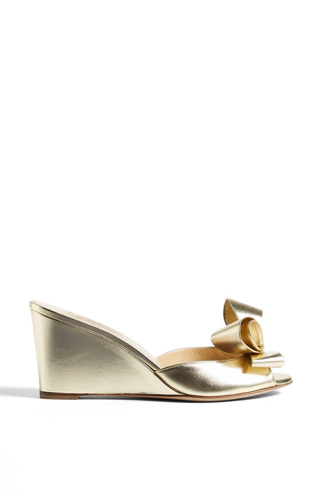 Alternate Image 4  - Valentino Bow Wedge Sandal