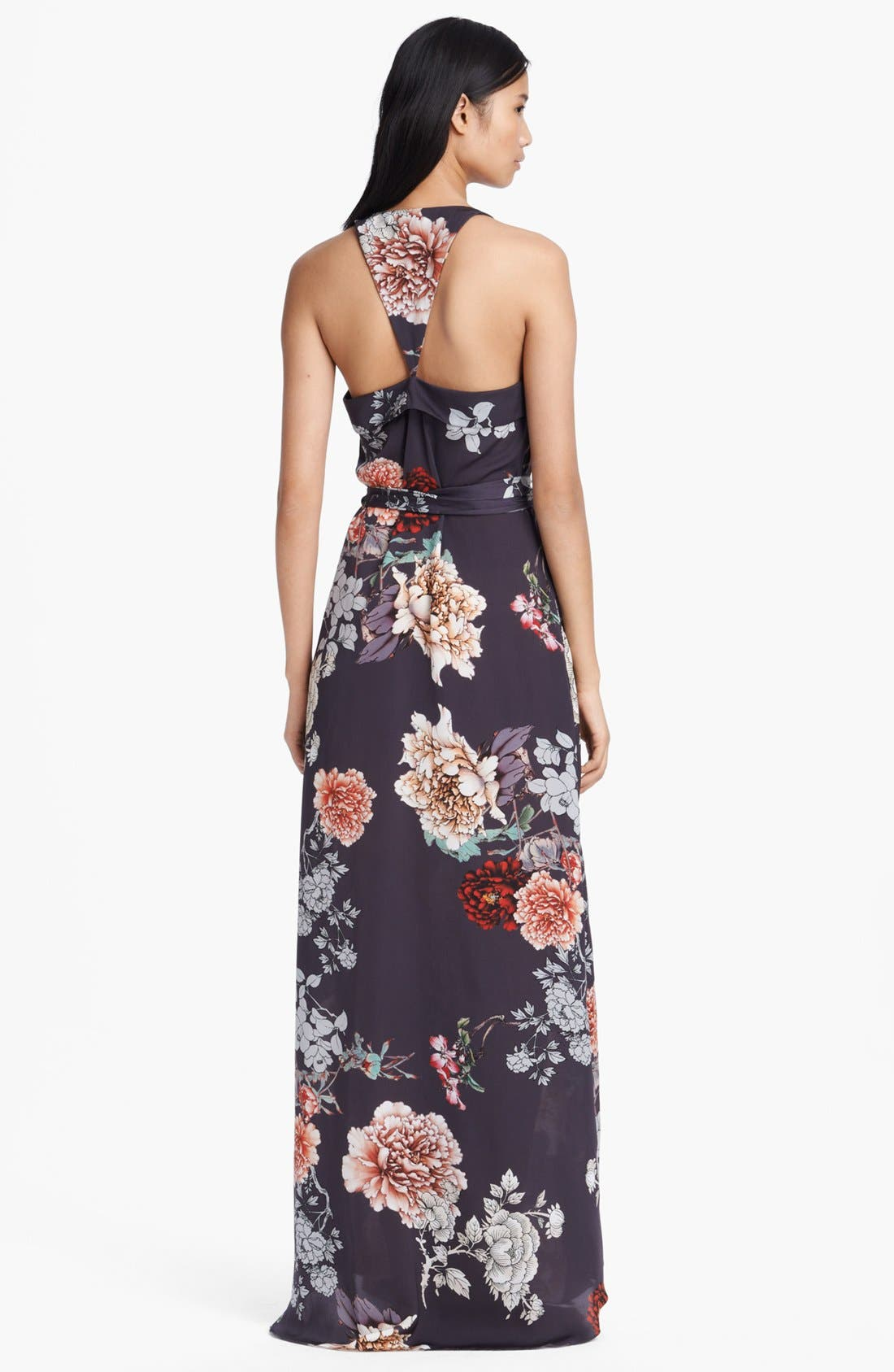 Alternate Image 2  - L'AGENCE Floral Print Ruffle Front Dress
