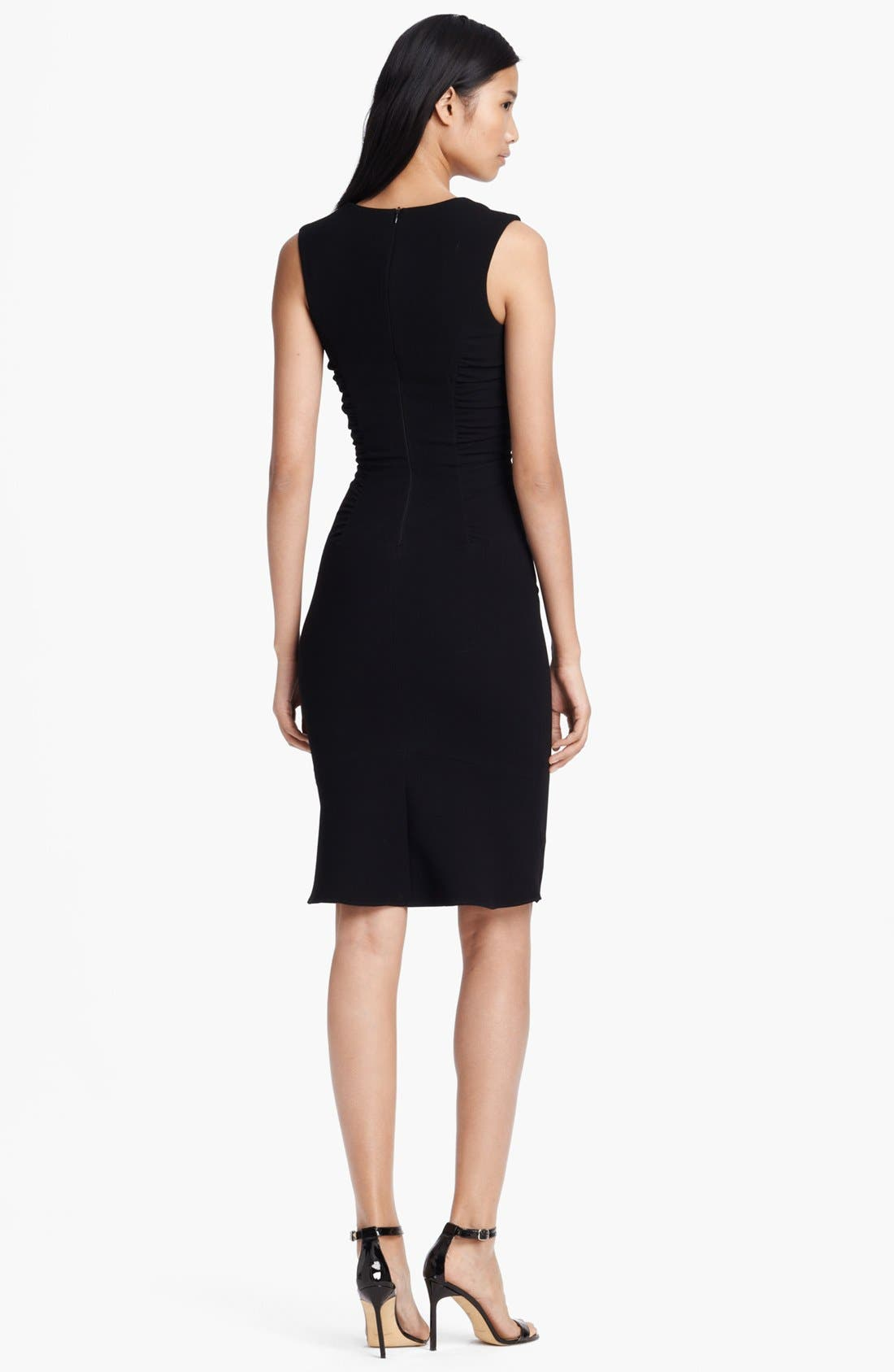 Alternate Image 2  - L'AGENCE Square Neck Ruched Dress