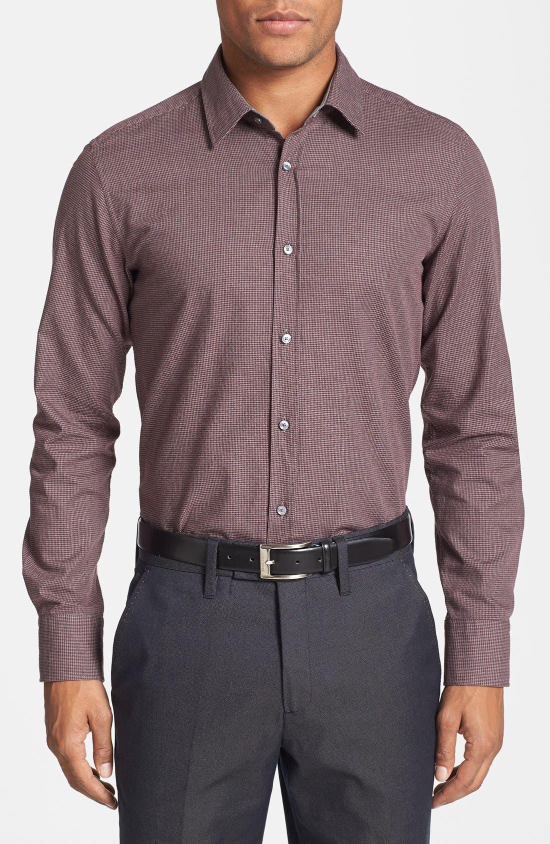 Alternate Image 1 Selected - BOSS HUGO BOSS 'Ronny' Mélange Houndstooth Sport Shirt