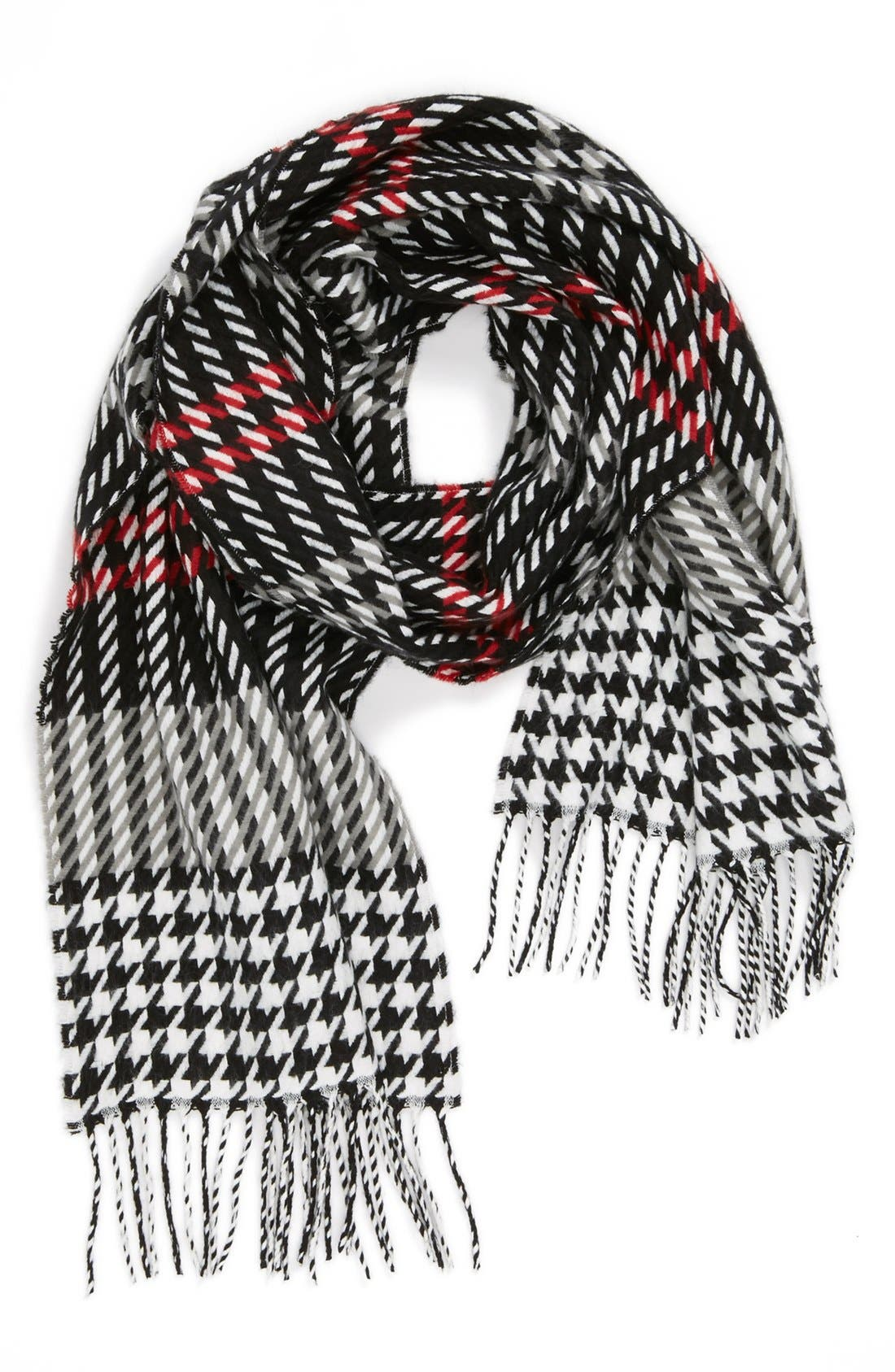 Alternate Image 1 Selected - David & Young 'Softer Than Cashmere' Plaid Scarf