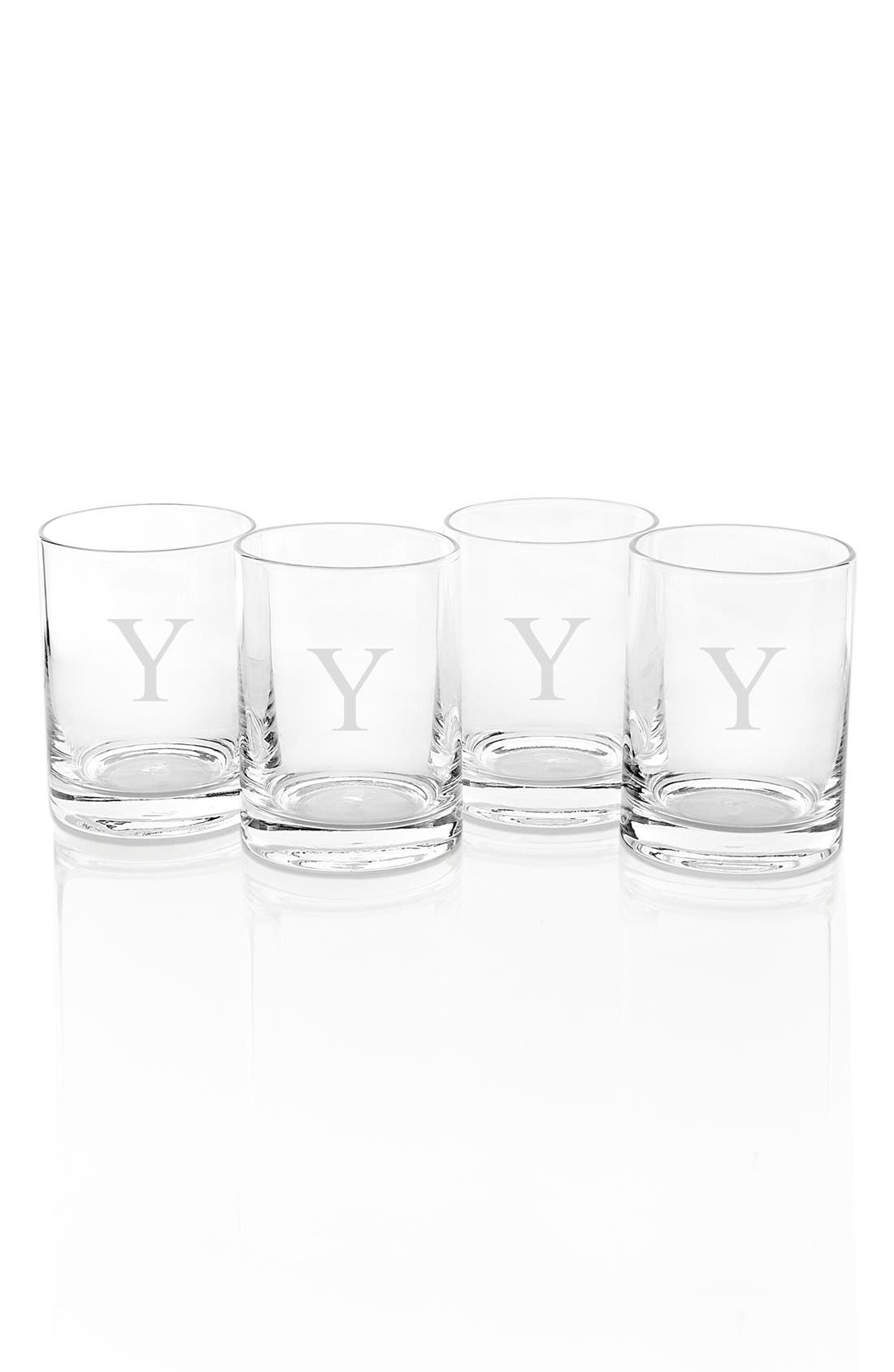 Alternate Image 1 Selected - Cathy's Concepts Monogram Drinking Glasses (Set of 4)