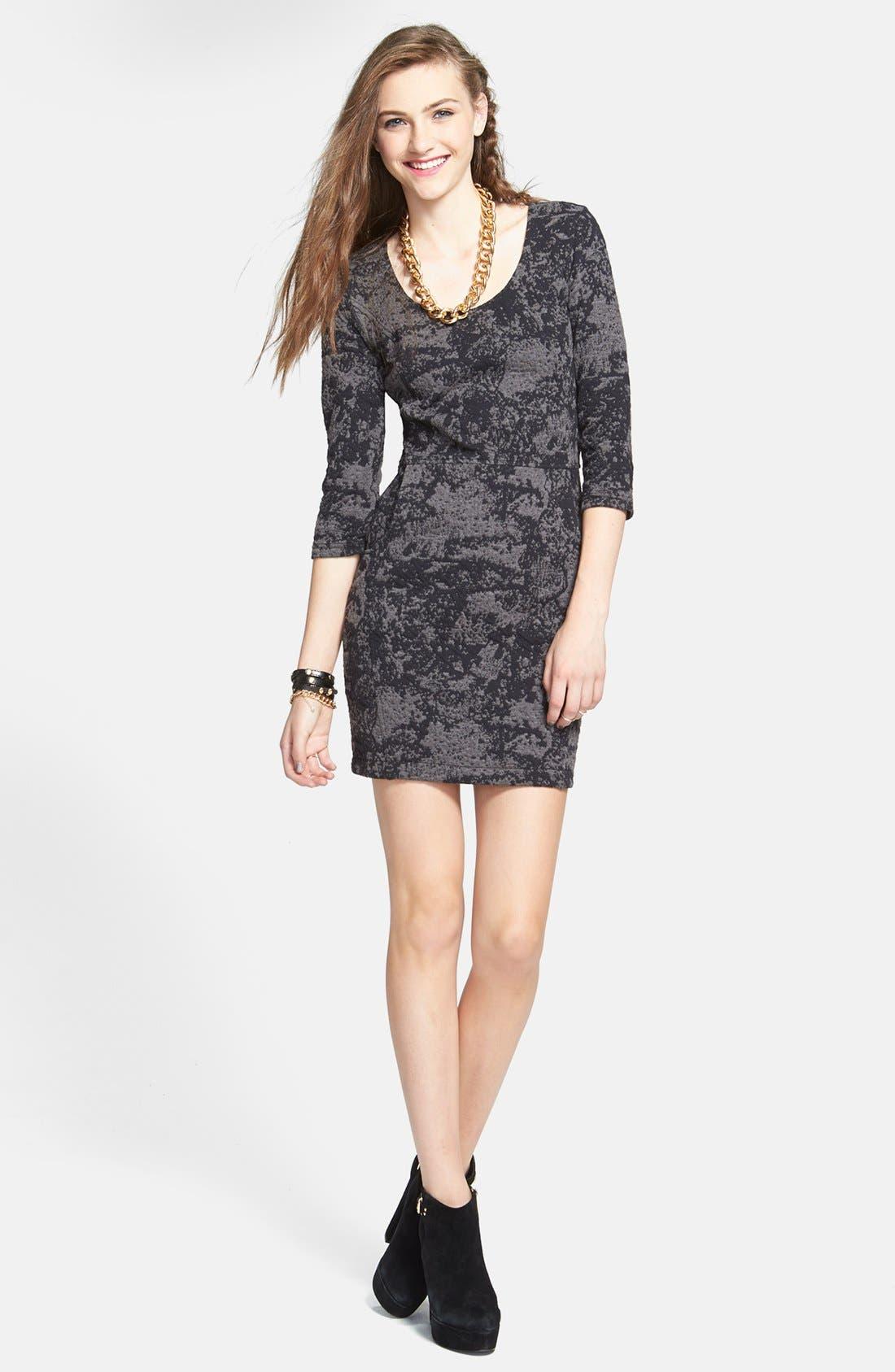 Main Image - BP. Textured Body-Con Dress (Juniors)